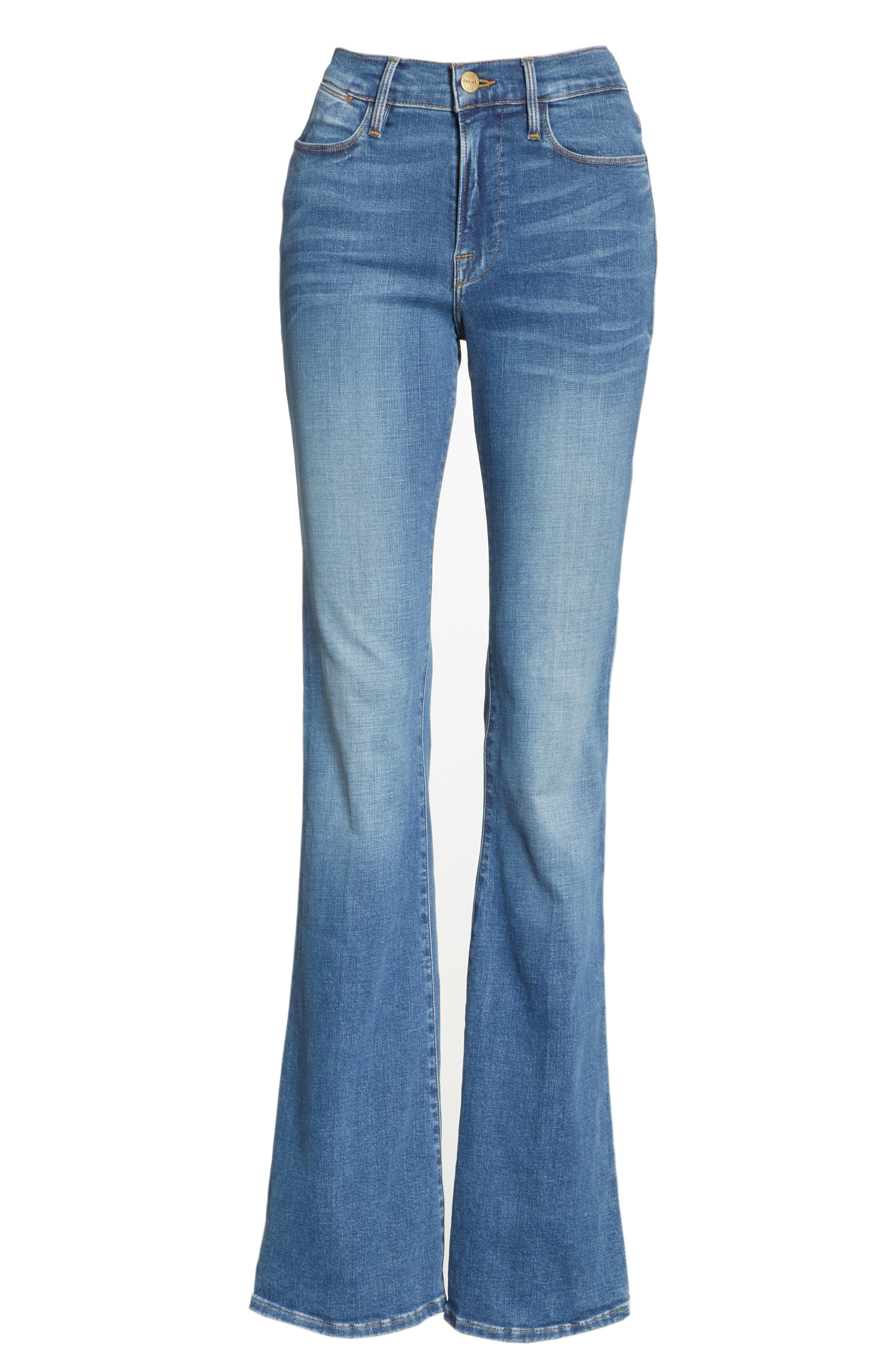 FRAME, Le High Flare Jeans, Alternate thumbnail 7, color, COLUMBUS