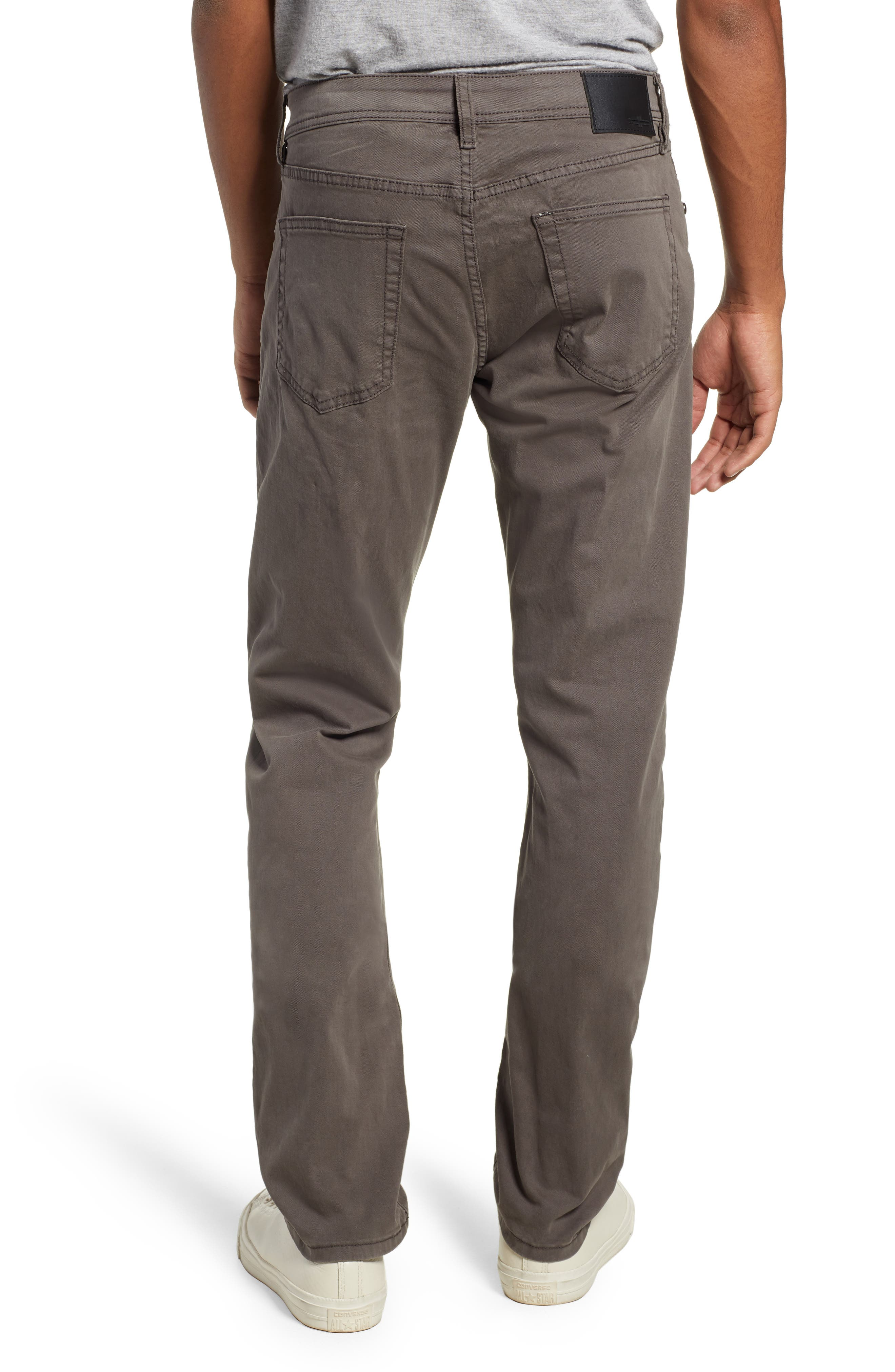 LIVERPOOL, Kingston Modern Straight Leg Twill Pants, Alternate thumbnail 2, color, OCEAN STORM