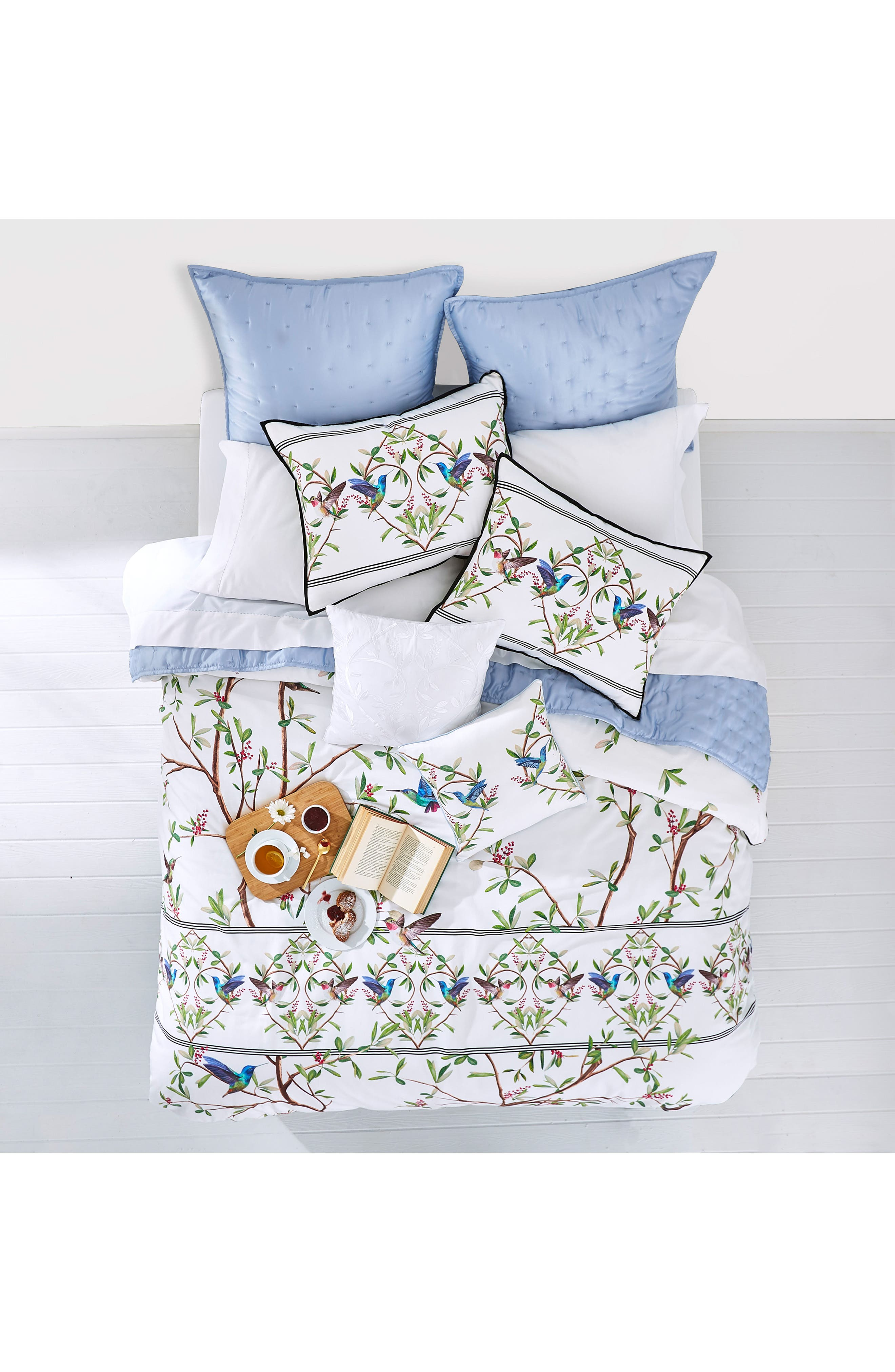 TED BAKER LONDON, Highgrove Comforter & Sham Set, Alternate thumbnail 10, color, WHITE/ MULTI