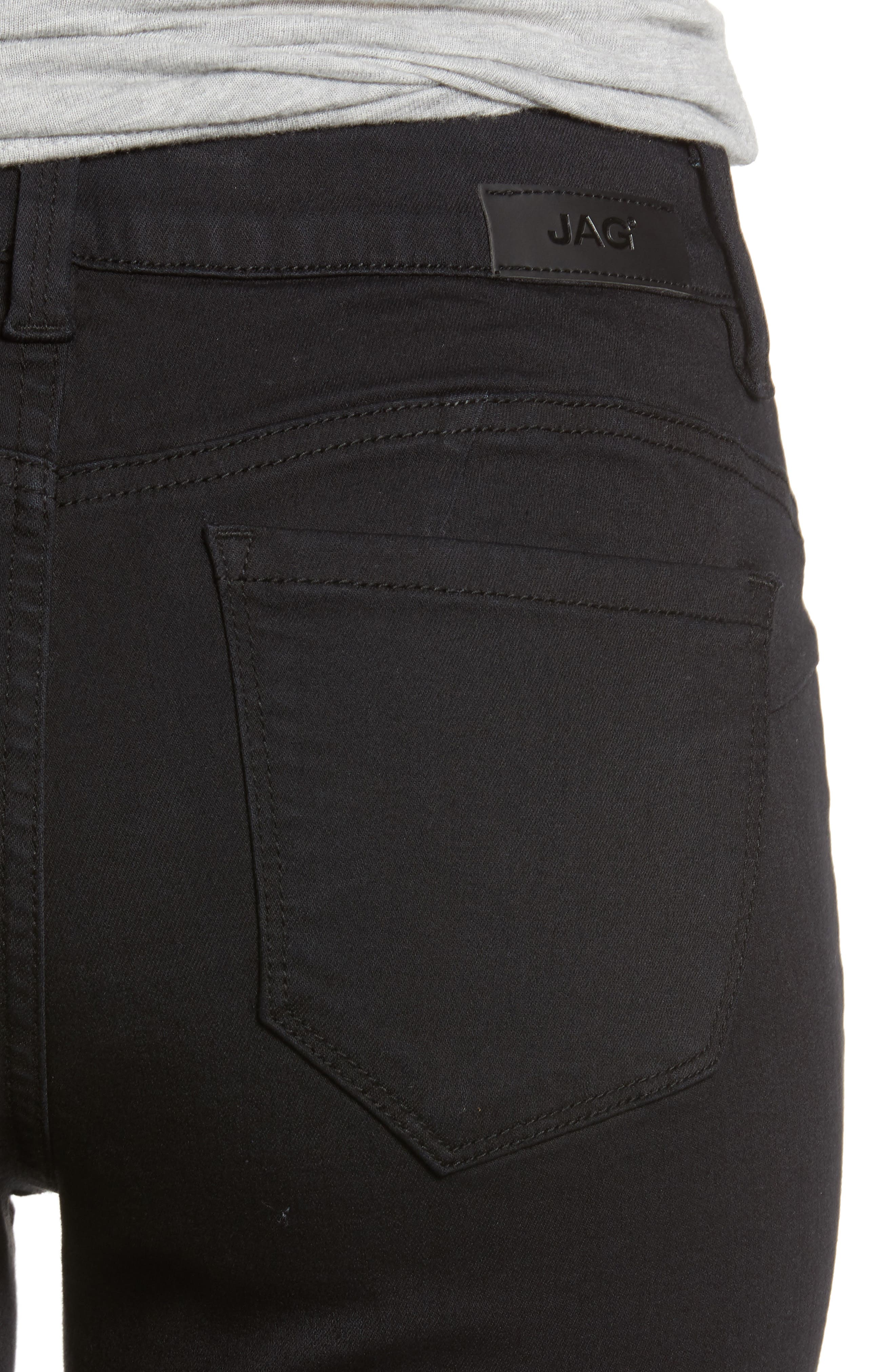 JAG JEANS, Bryn Pull-On Jeans, Alternate thumbnail 5, color, BLACK