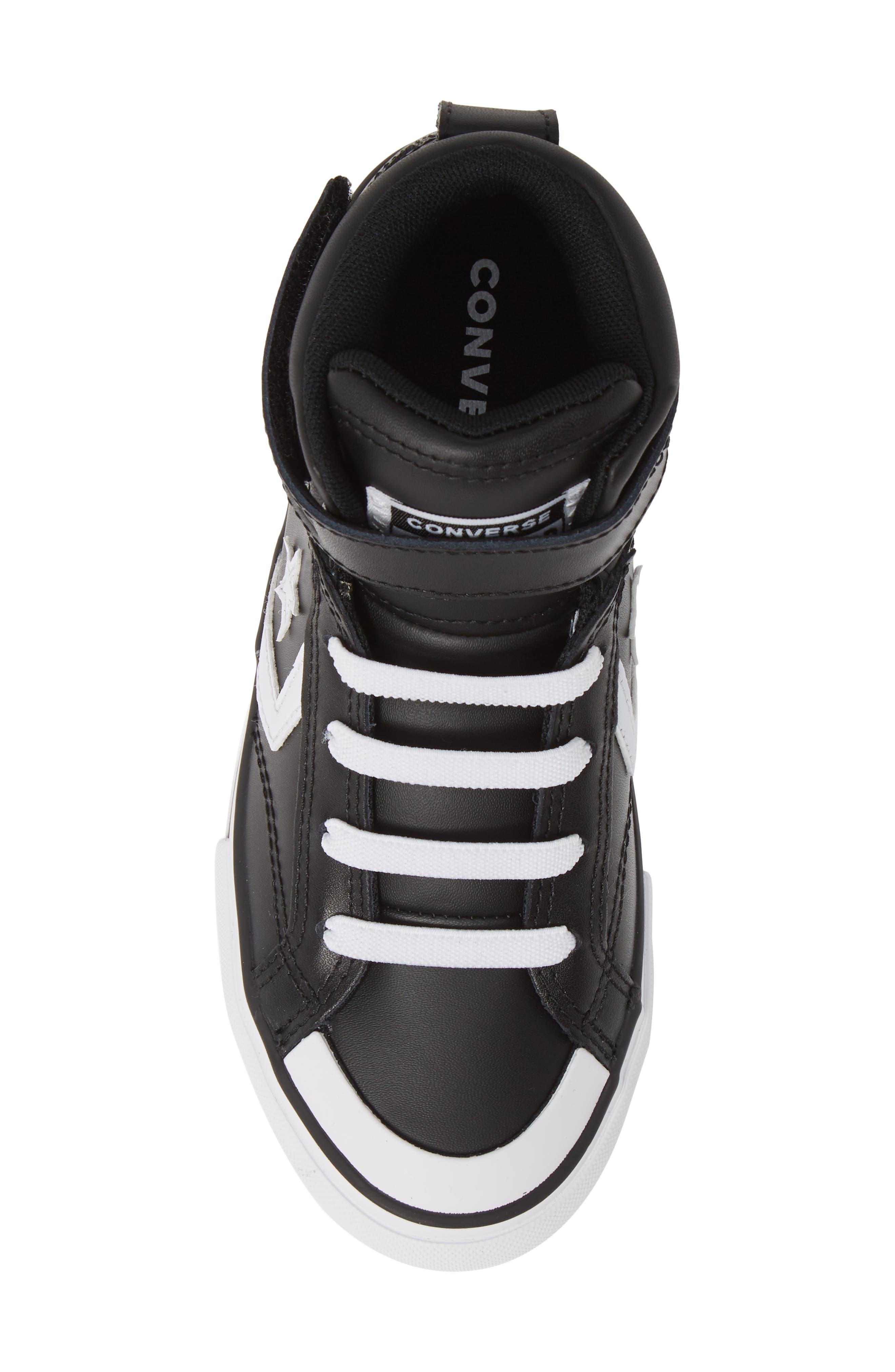 CONVERSE, Pro Blaze High Top Sneaker, Alternate thumbnail 5, color, BLACK/ WHITE/ WHITE