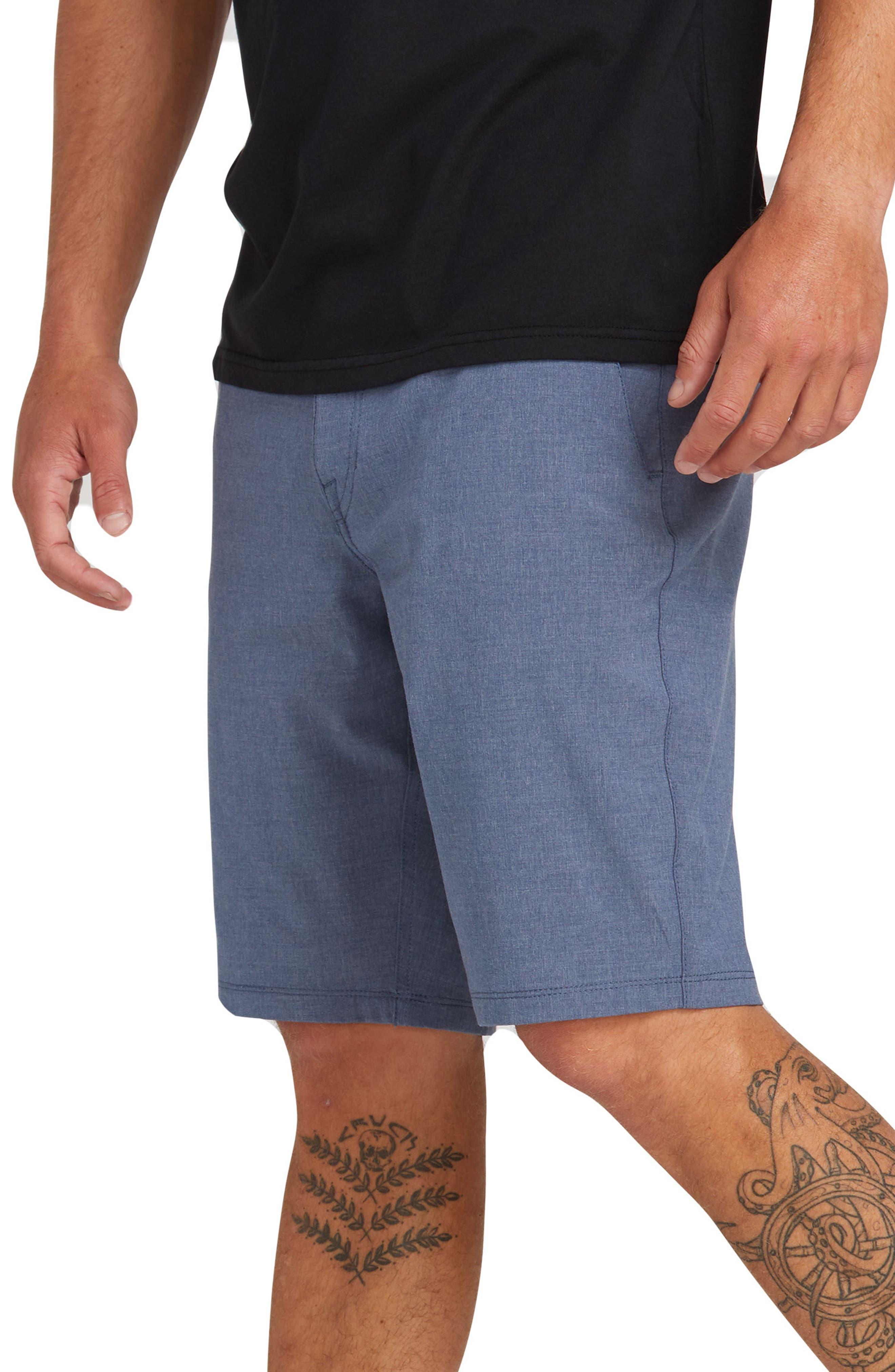 VOLCOM, Hybrid Shorts, Alternate thumbnail 3, color, DEEP BLUE