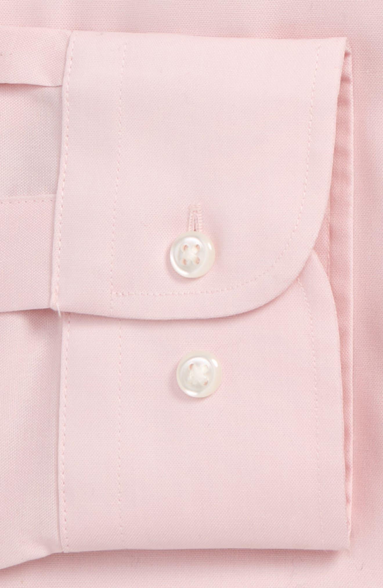 NORDSTROM MEN'S SHOP, Classic Fit Non-Iron Dress Shirt, Alternate thumbnail 2, color, PINK BREATH