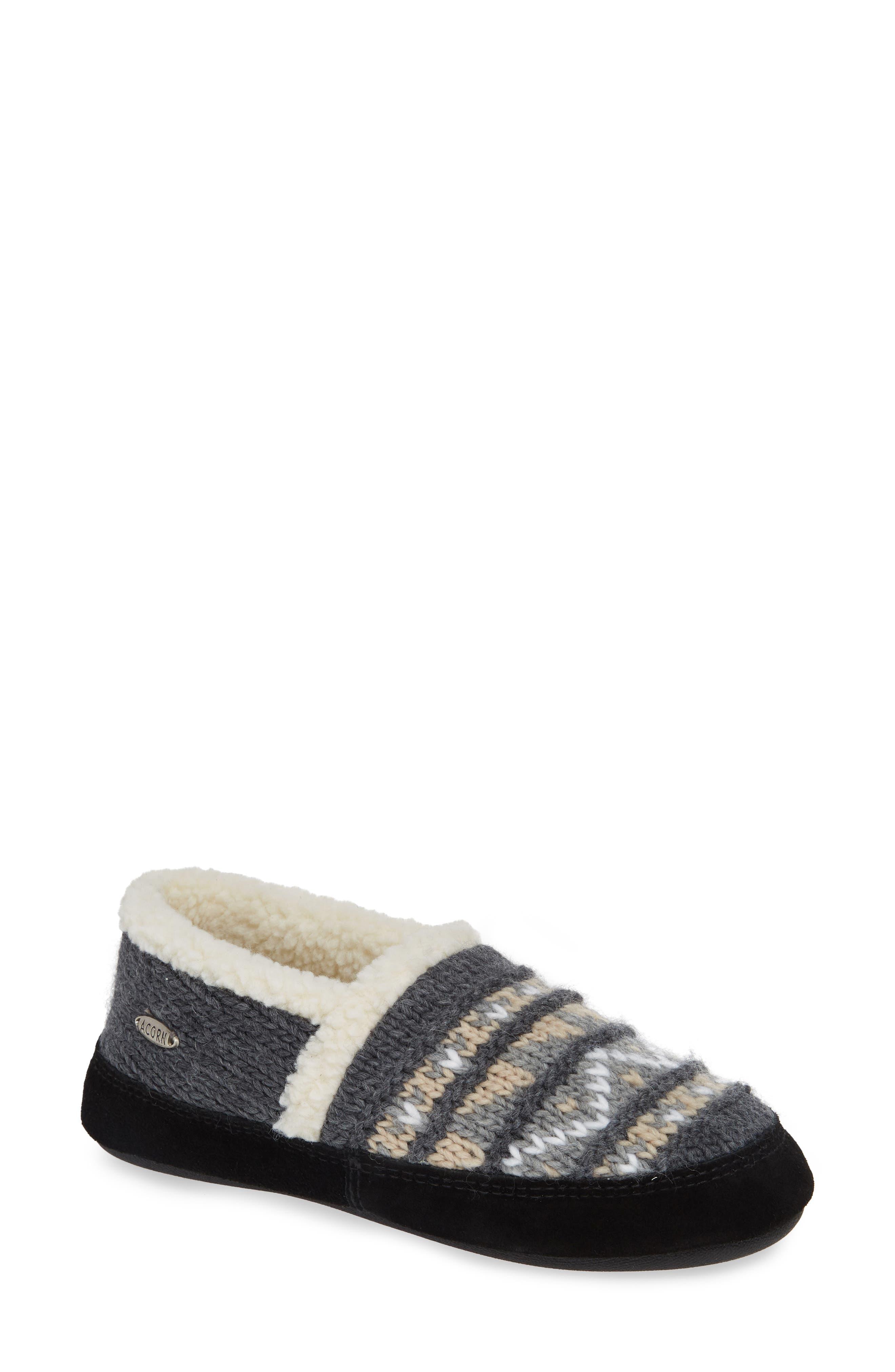 ACORN Nordic Moc Slipper, Main, color, NORDIC GREY FABRIC