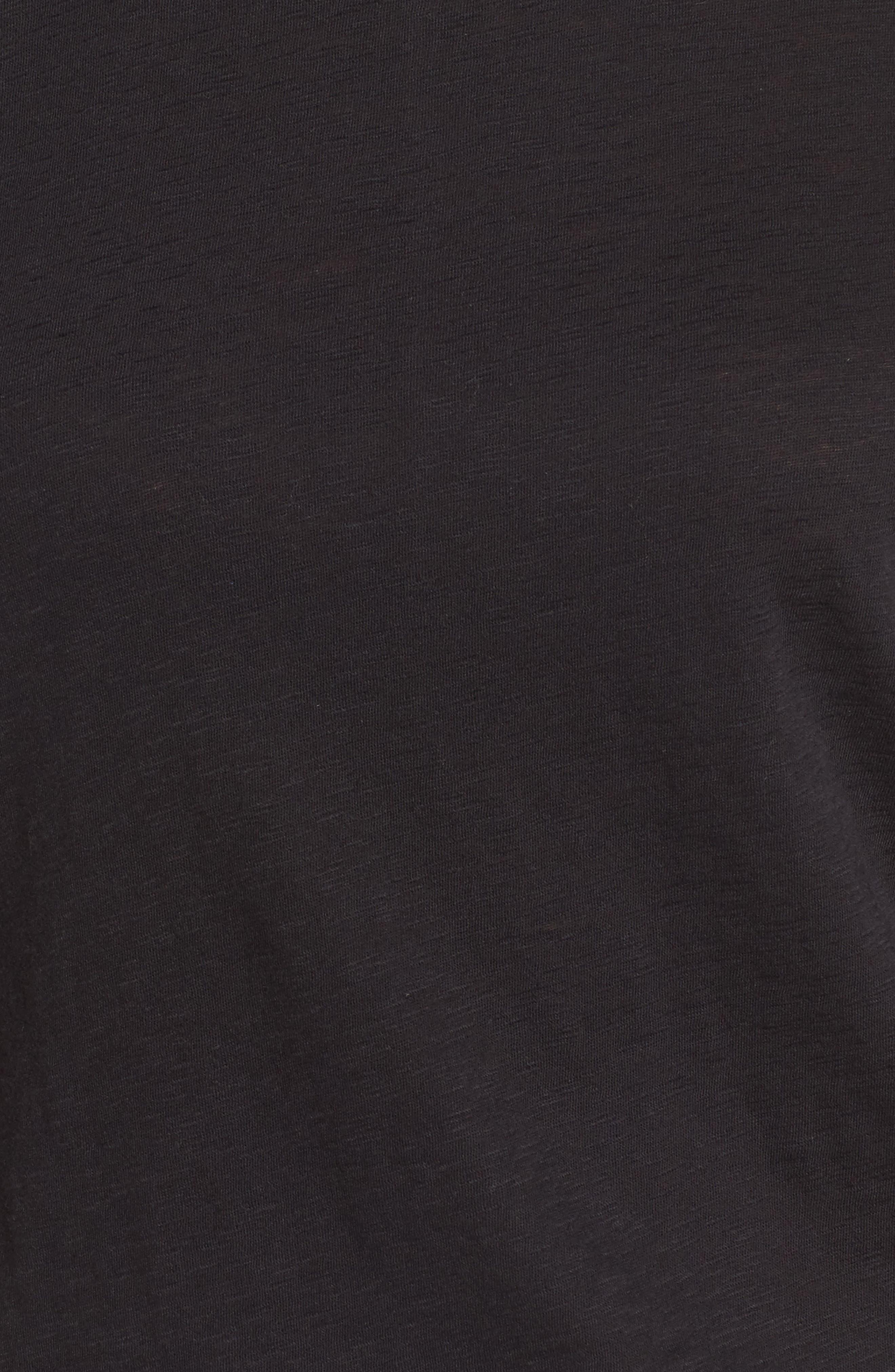 CASLON<SUP>®</SUP>, Slub Crewneck Tee, Alternate thumbnail 5, color, BLACK