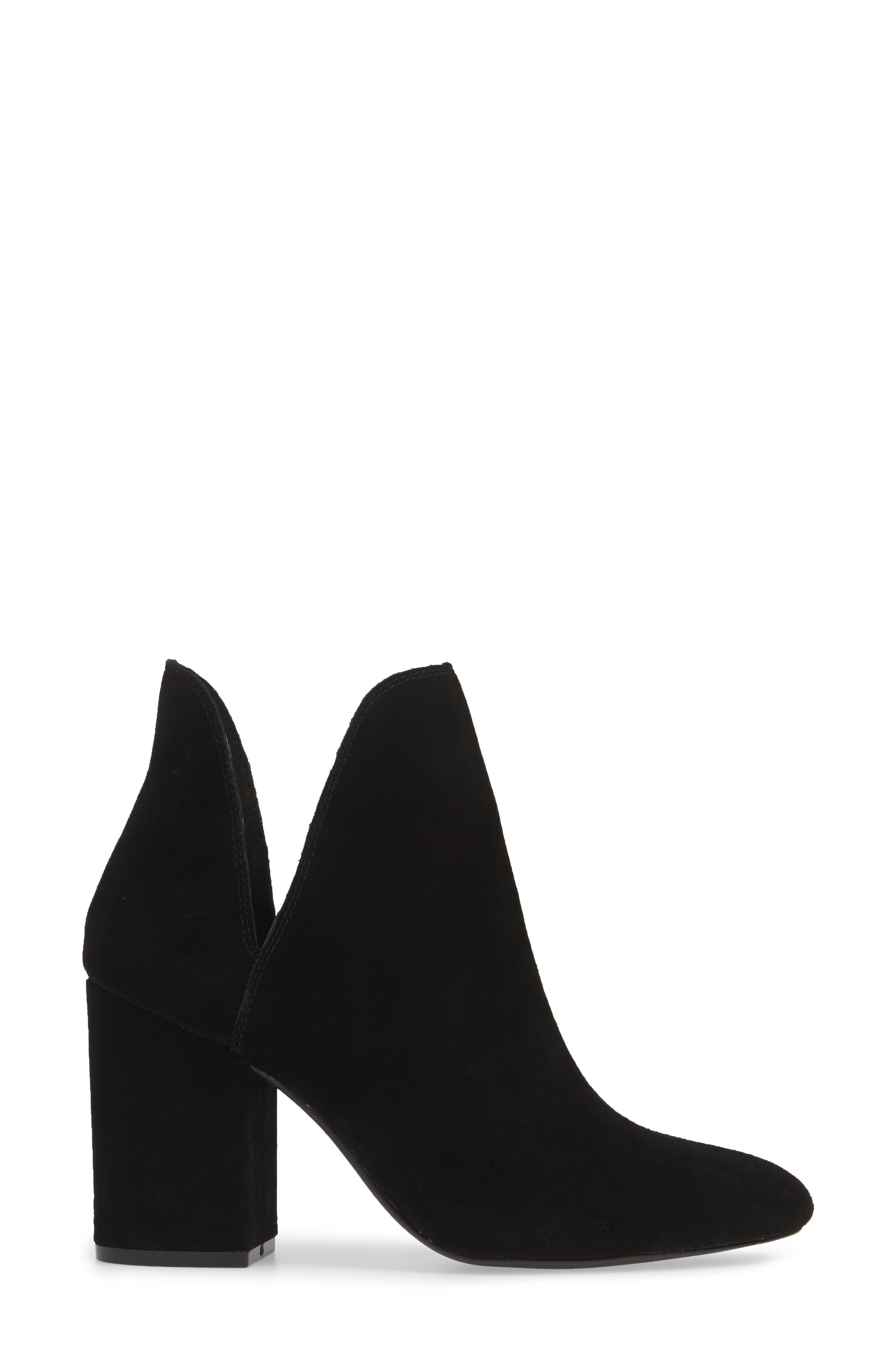 STEVE MADDEN, Rookie Bootie, Alternate thumbnail 3, color, BLACK SUEDE
