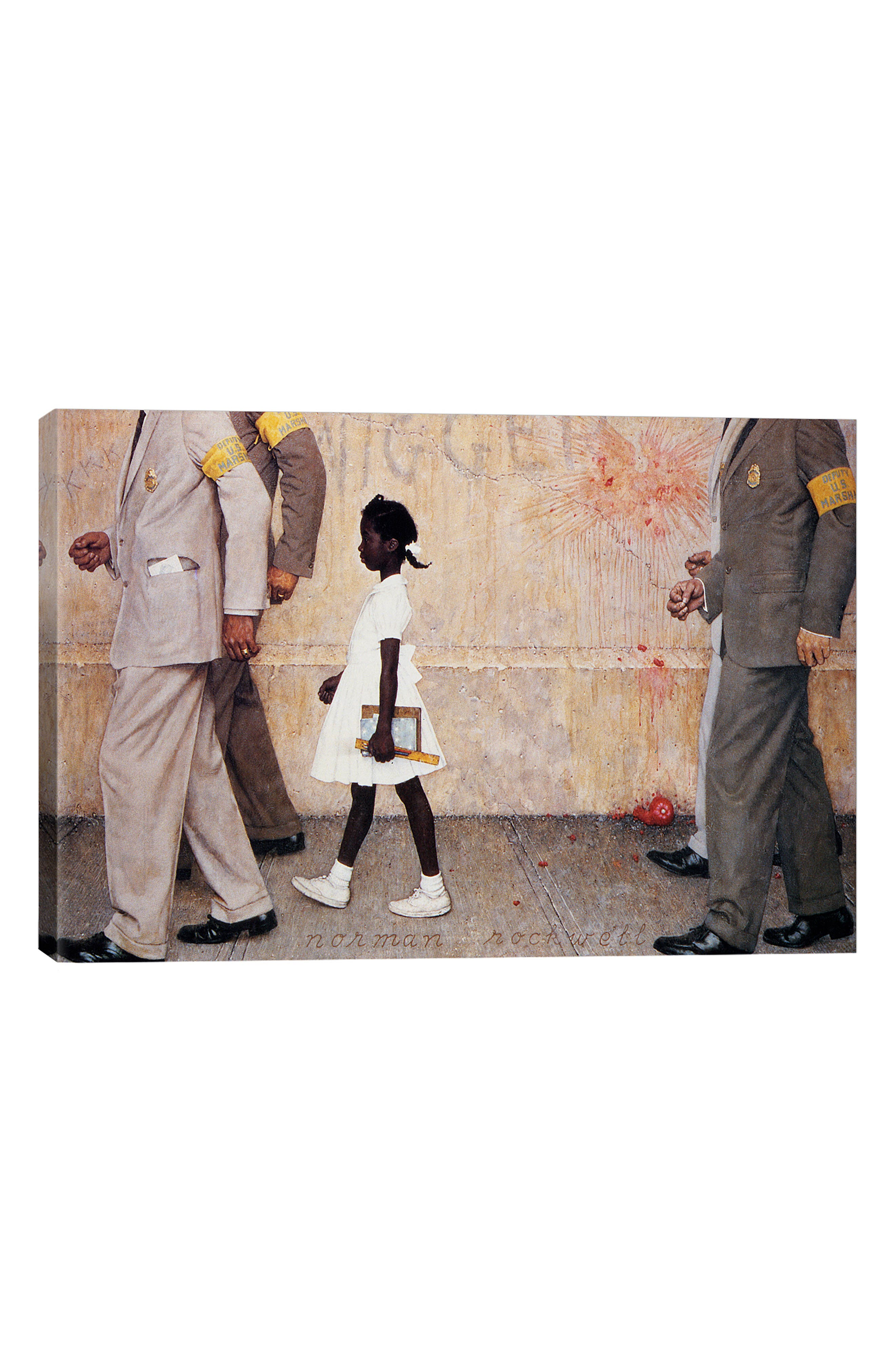 ICANVAS, The Problem We All Live With Giclée Print Canvas Art, Main thumbnail 1, color, IVORY