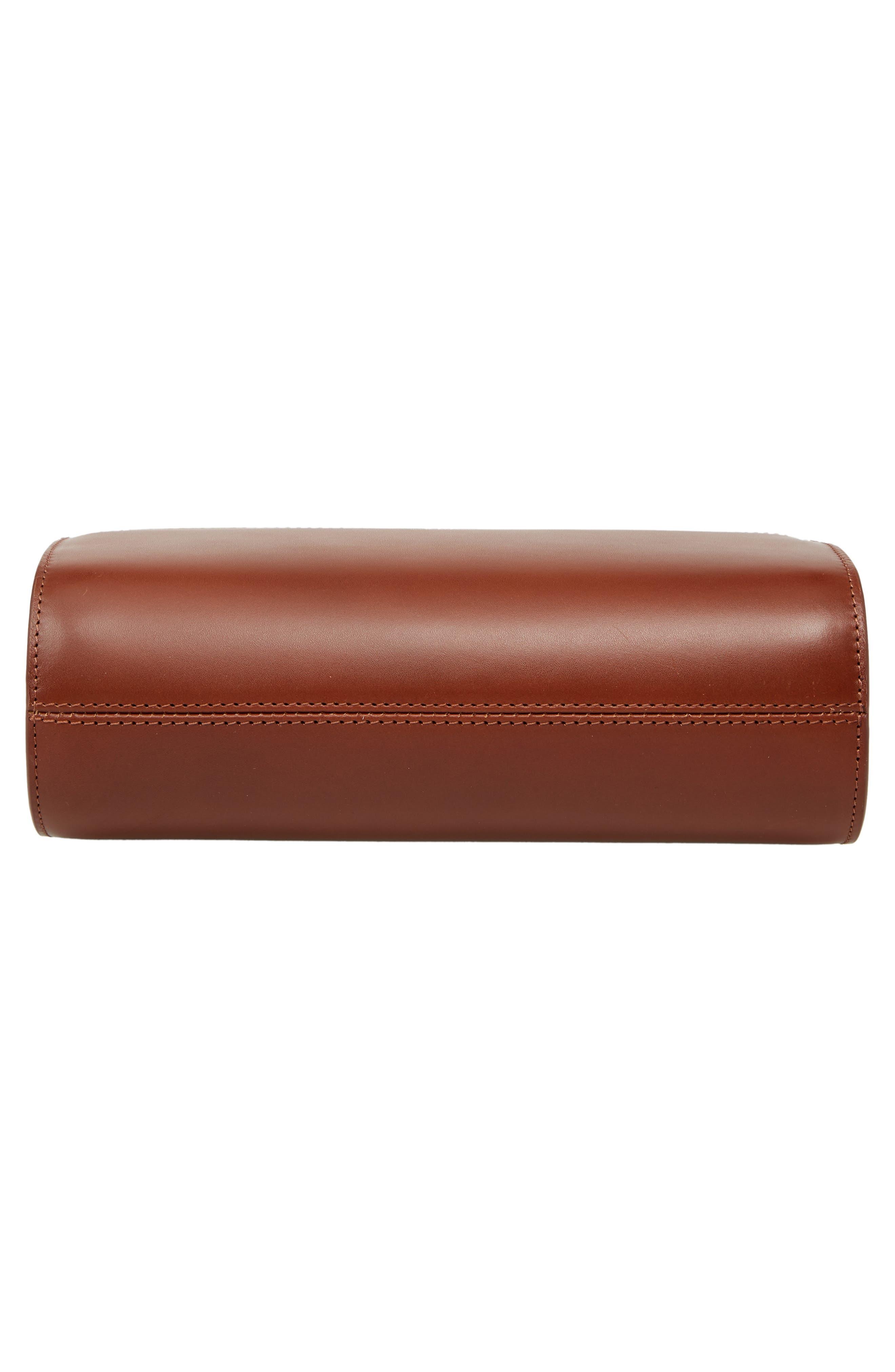 A.P.C., Sac Demilune Leather & Denim Crossbody Bag, Alternate thumbnail 6, color, 242