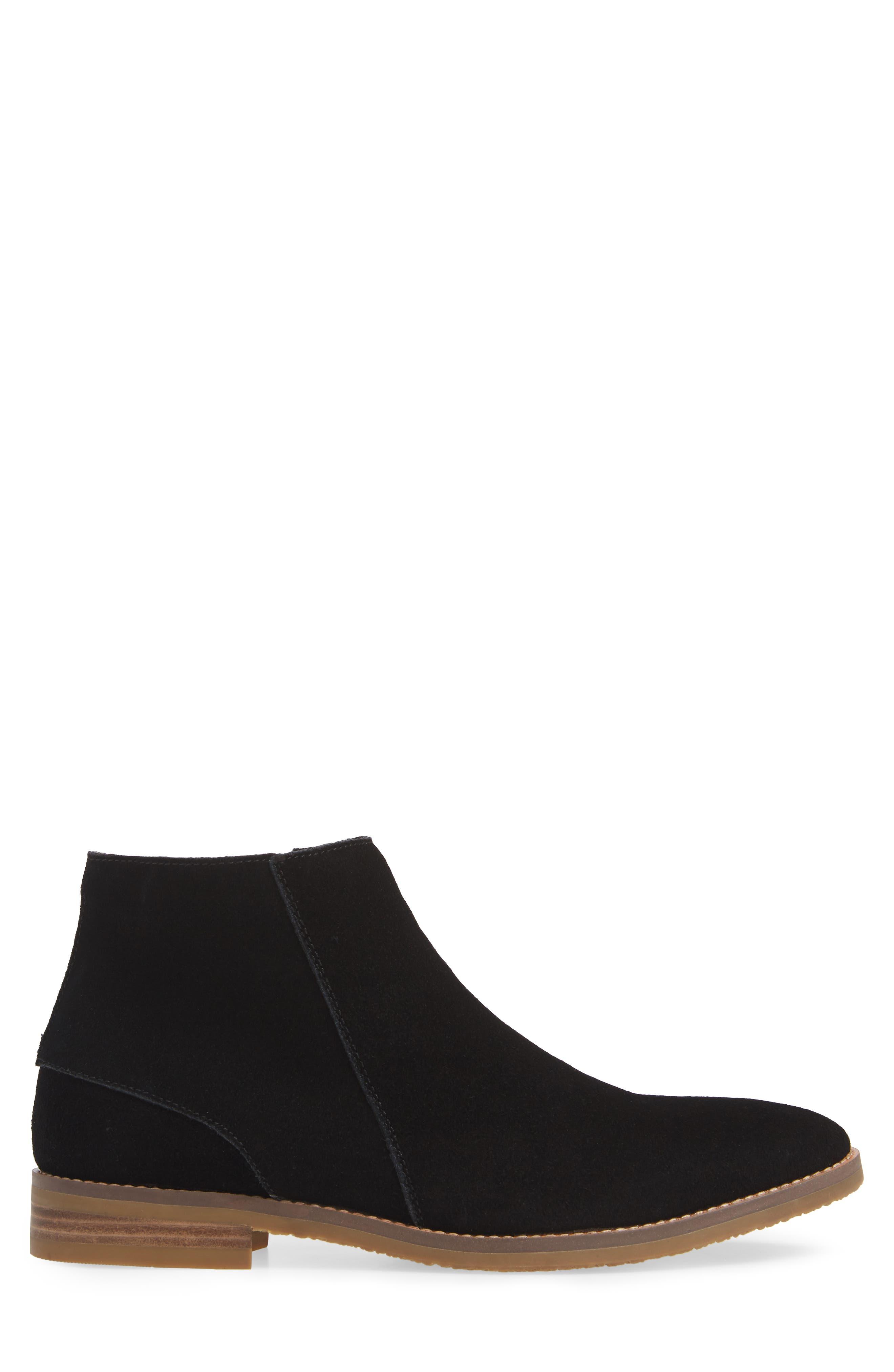 JUMP, Brighton Chelsea Zip Boot, Alternate thumbnail 3, color, BLACK
