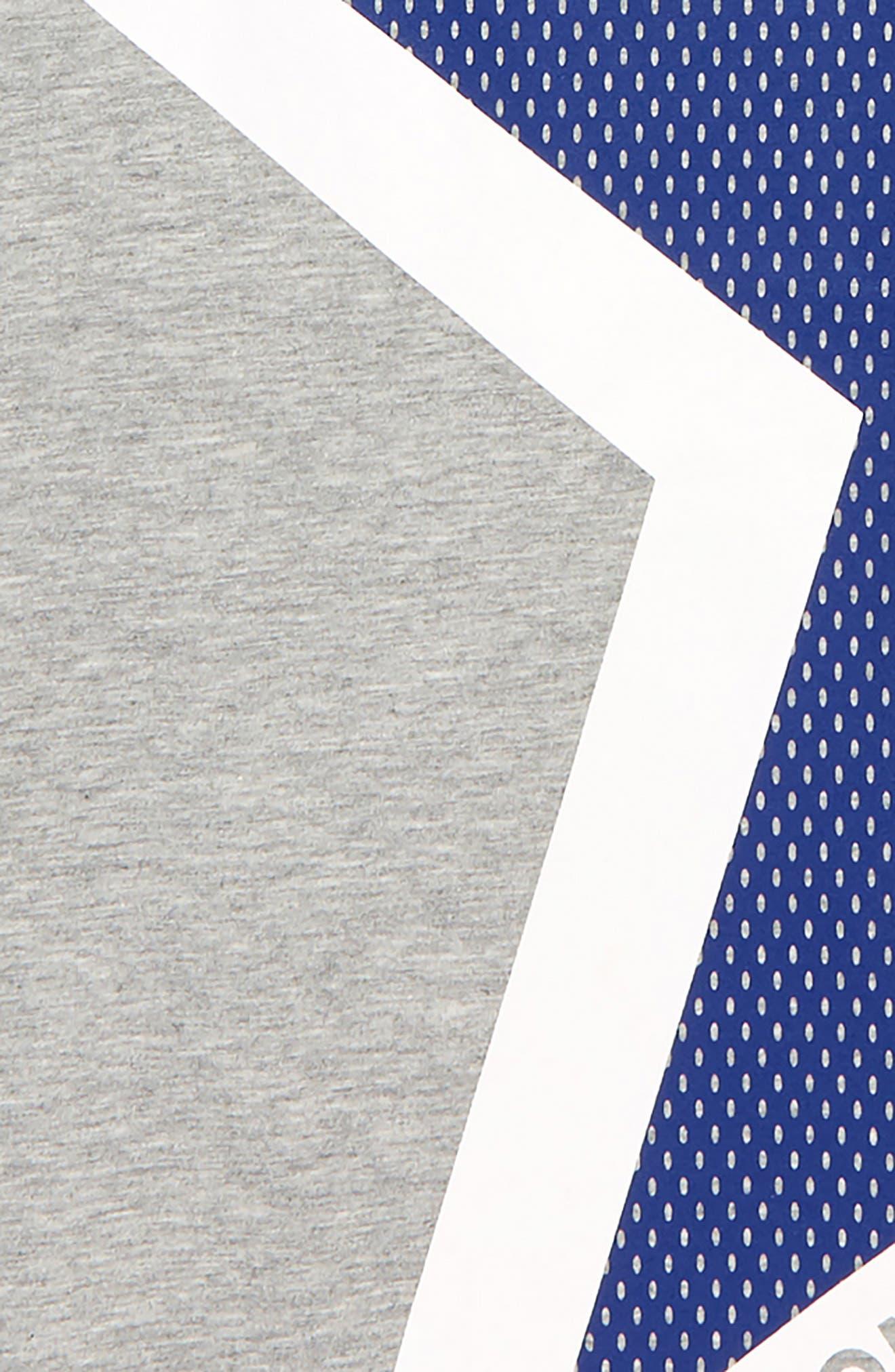 CONVERSE, One Star T-Shirt, Alternate thumbnail 2, color, DARK GREY HEATHER