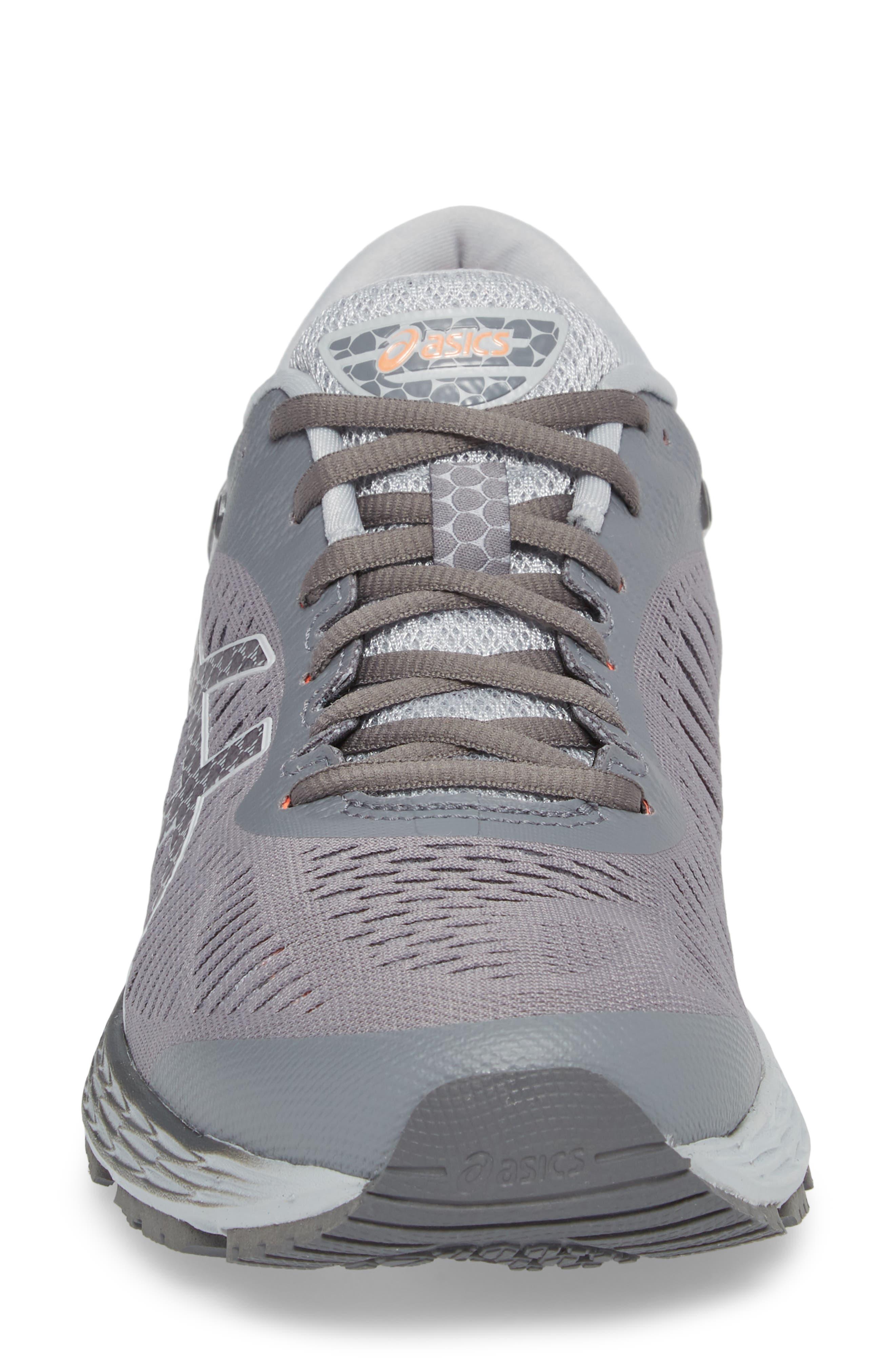 ASICS<SUP>®</SUP>, GEL-Kayano<sup>®</sup> 25 Running Shoe, Alternate thumbnail 4, color, CARBON/ MID GREY