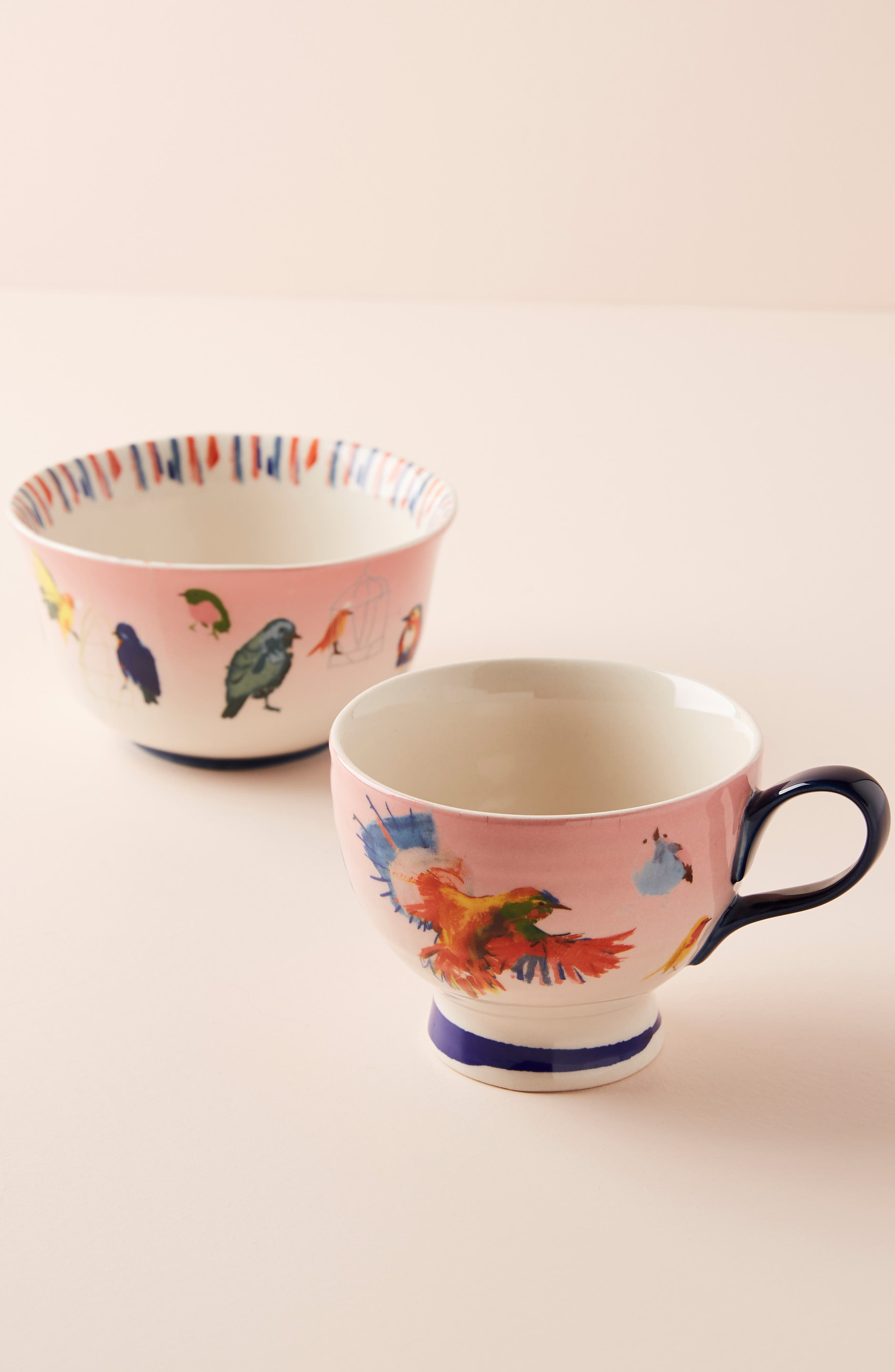 ANTHROPOLOGIE, Raven Roxanne Cup, Alternate thumbnail 5, color, NAVY