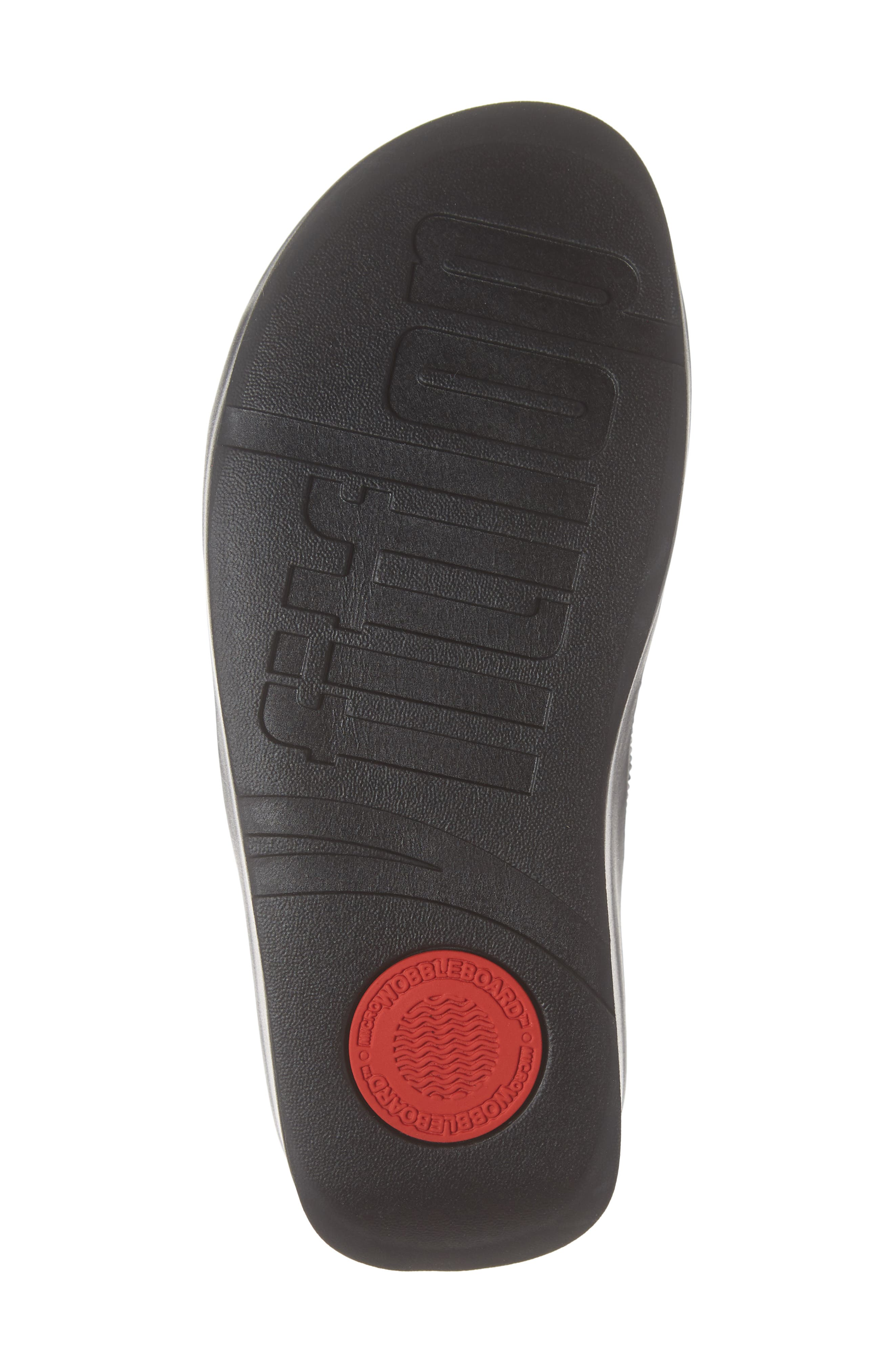 FITFLOP, Twiss Crystal Embellished Slide Sandal, Alternate thumbnail 6, color, BLACK FABRIC
