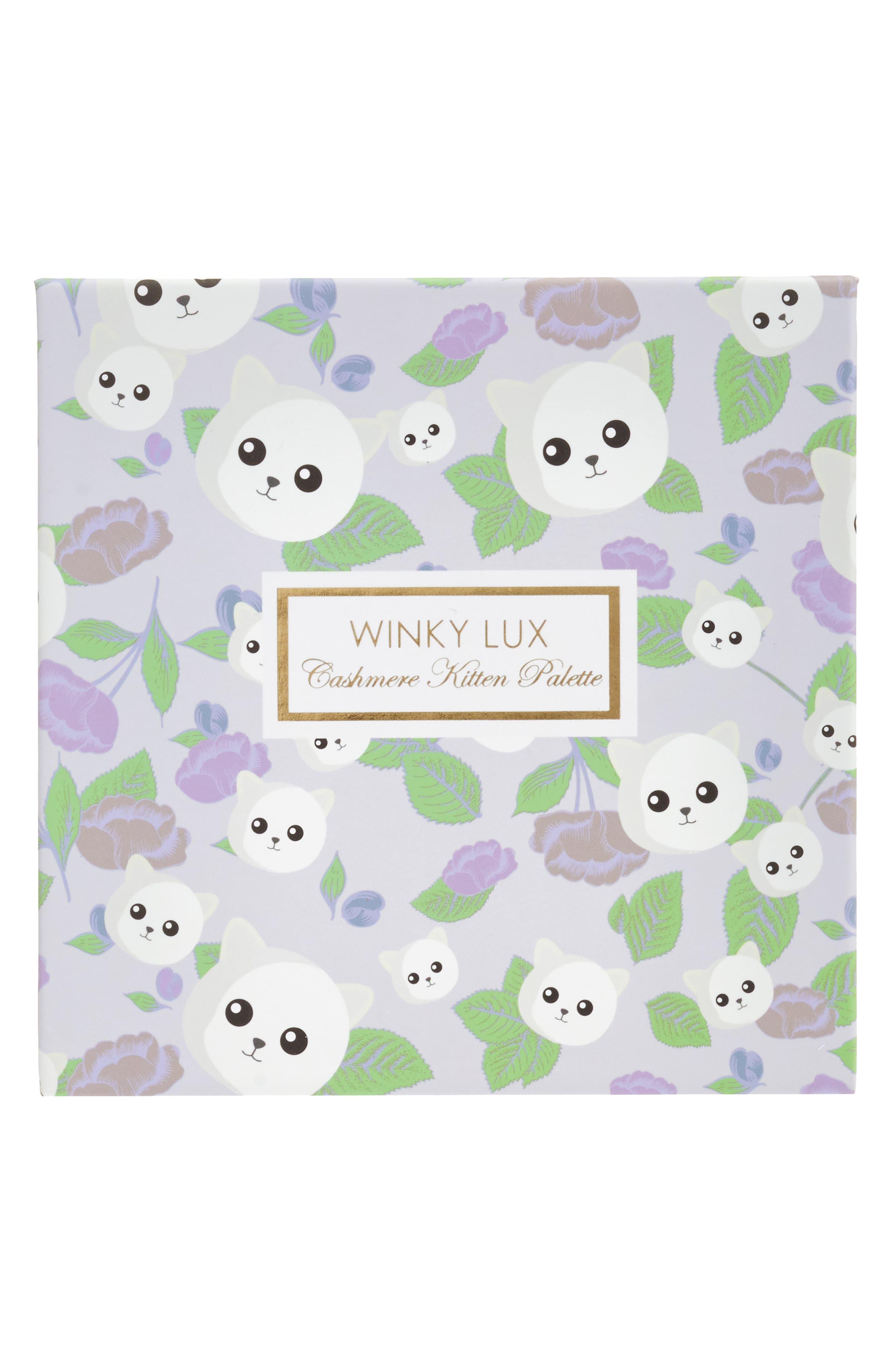 WINKY LUX, Cashmere Kitten Palette, Alternate thumbnail 2, color, 000