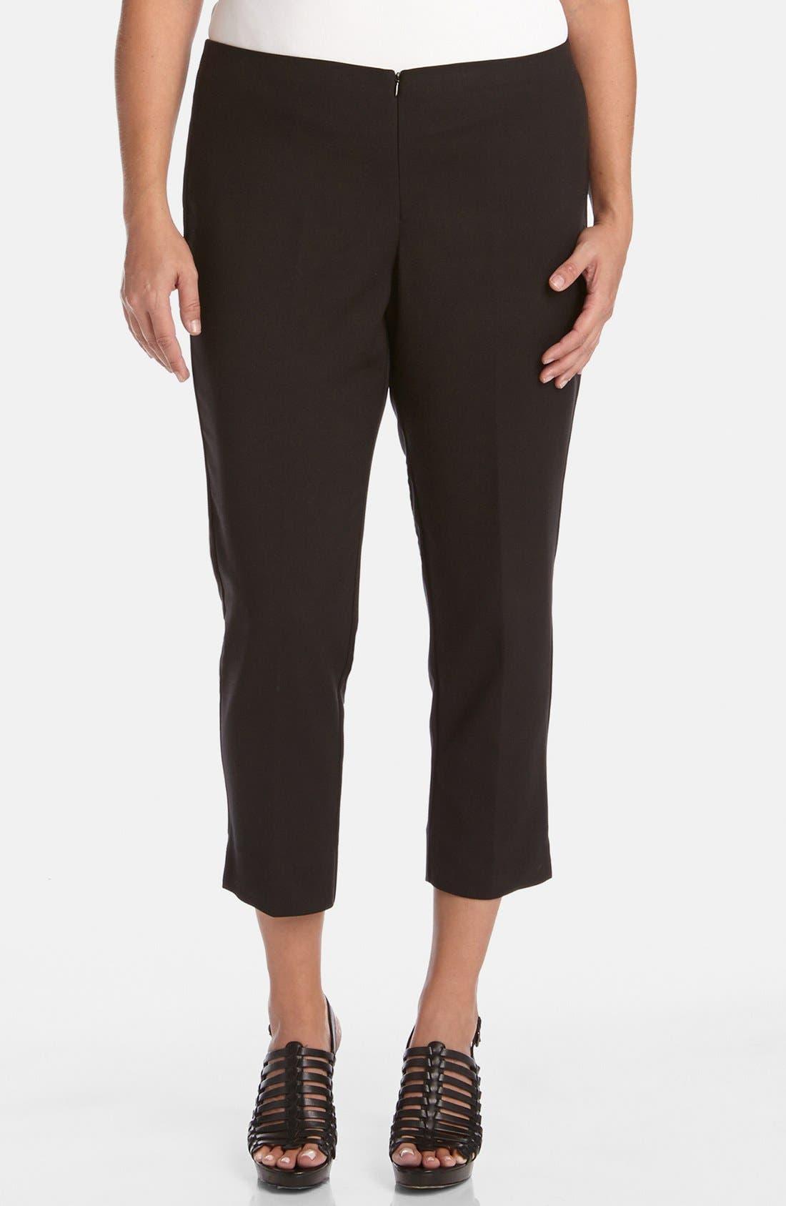 KAREN KANE Stretch Capri Pants, Main, color, BLACK