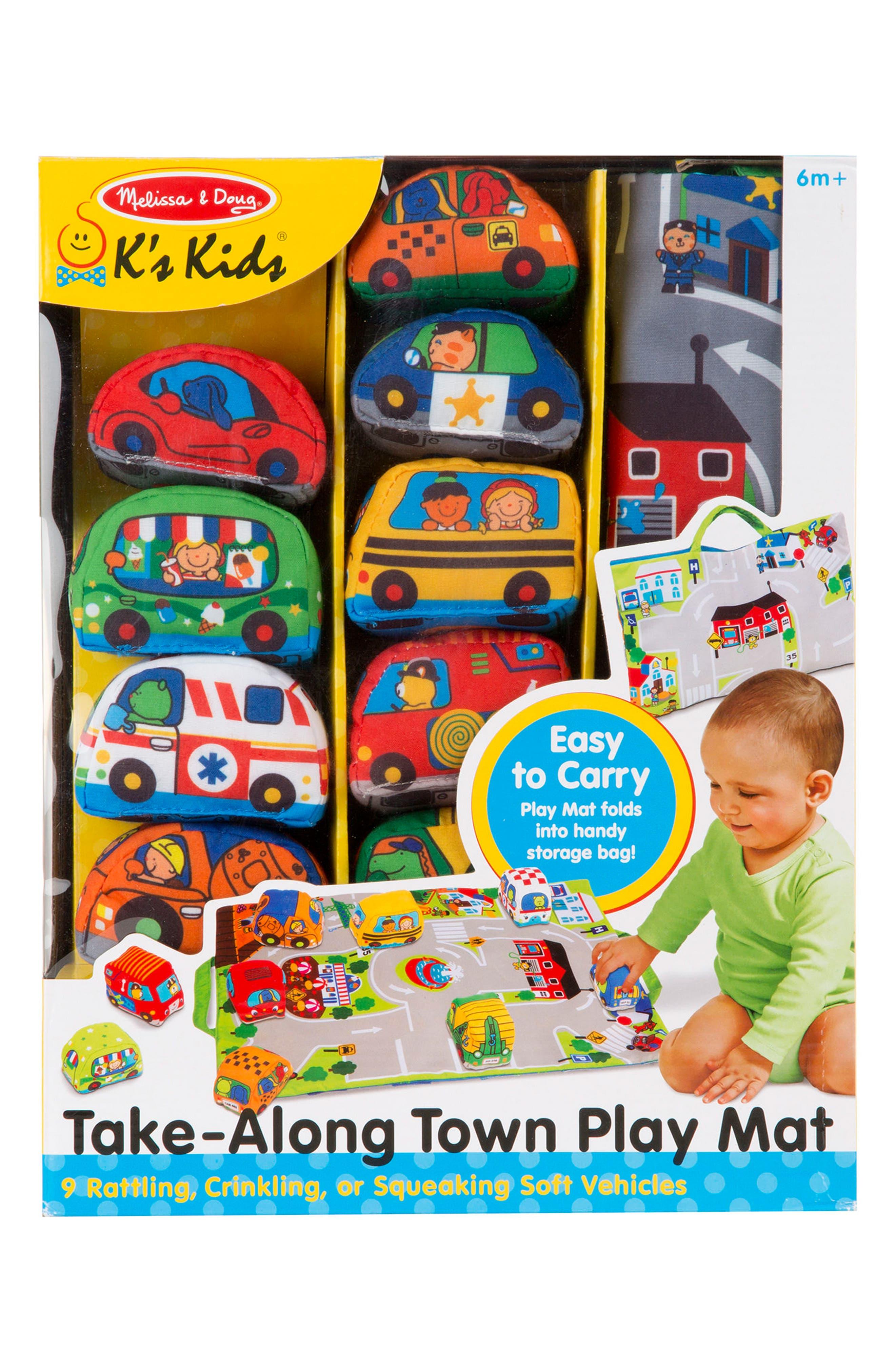MELISSA & DOUG, Take-Along Town Play Mat, Alternate thumbnail 2, color, GREEN