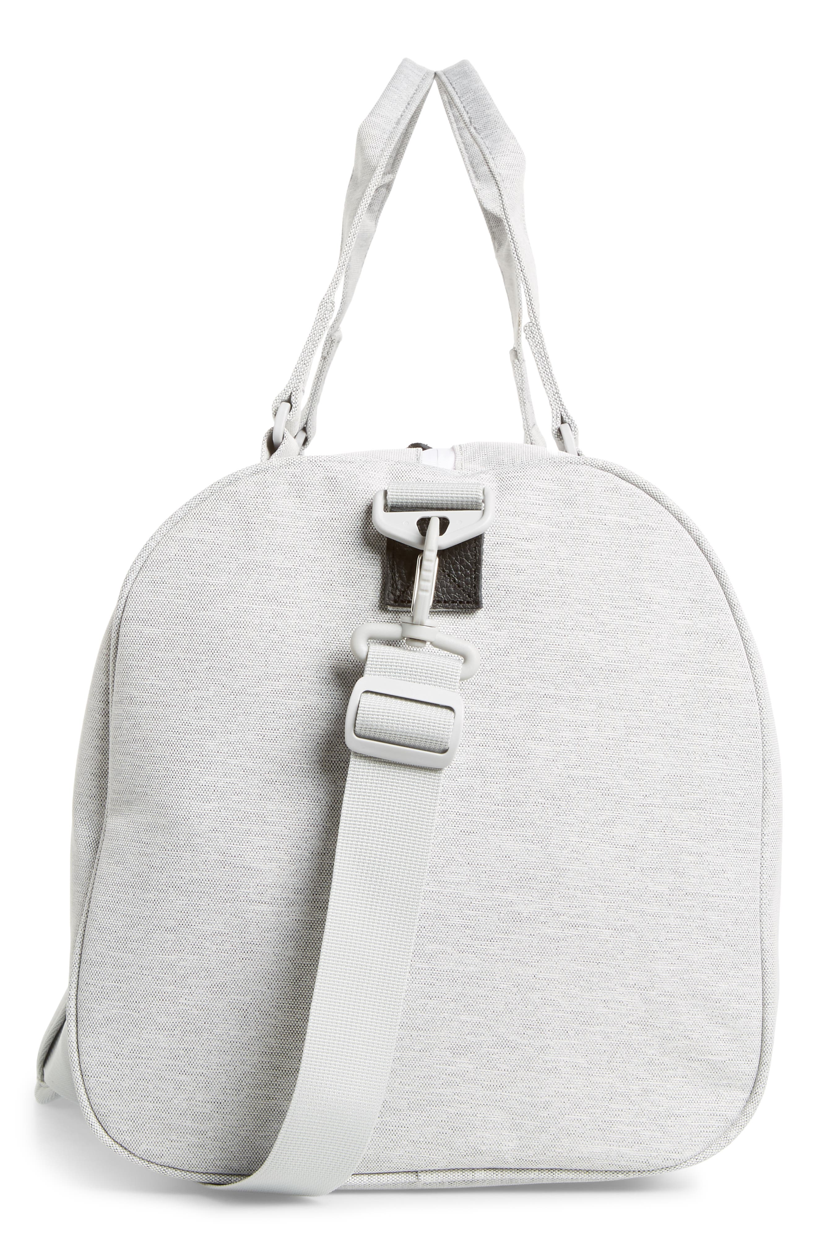 HERSCHEL SUPPLY CO., Novel Duffle Bag, Alternate thumbnail 6, color, LIGHT GREY CROSSHATCH