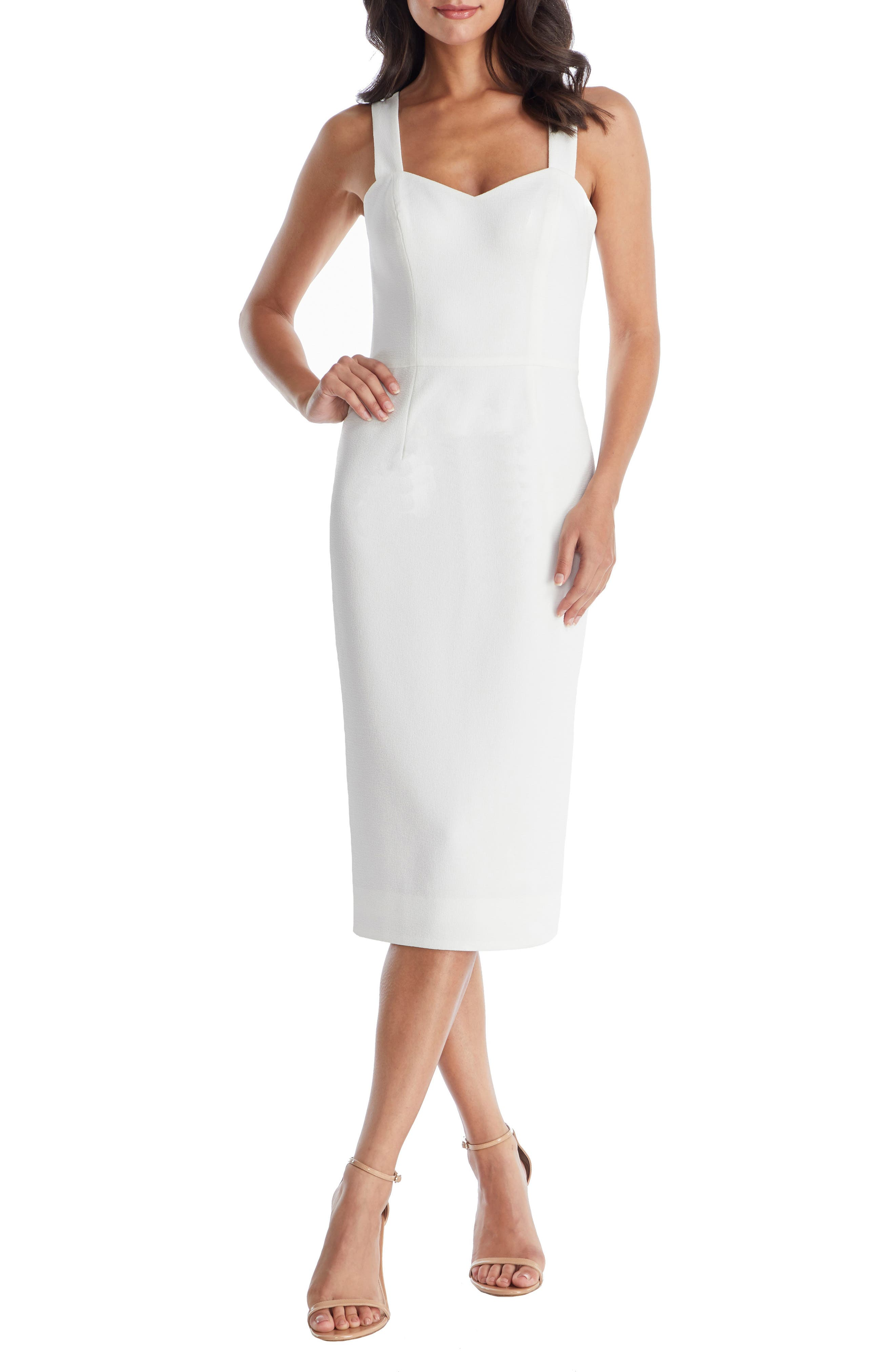 Dress The Population Nicole Sweetheart Neck Cocktail Dress, Ivory