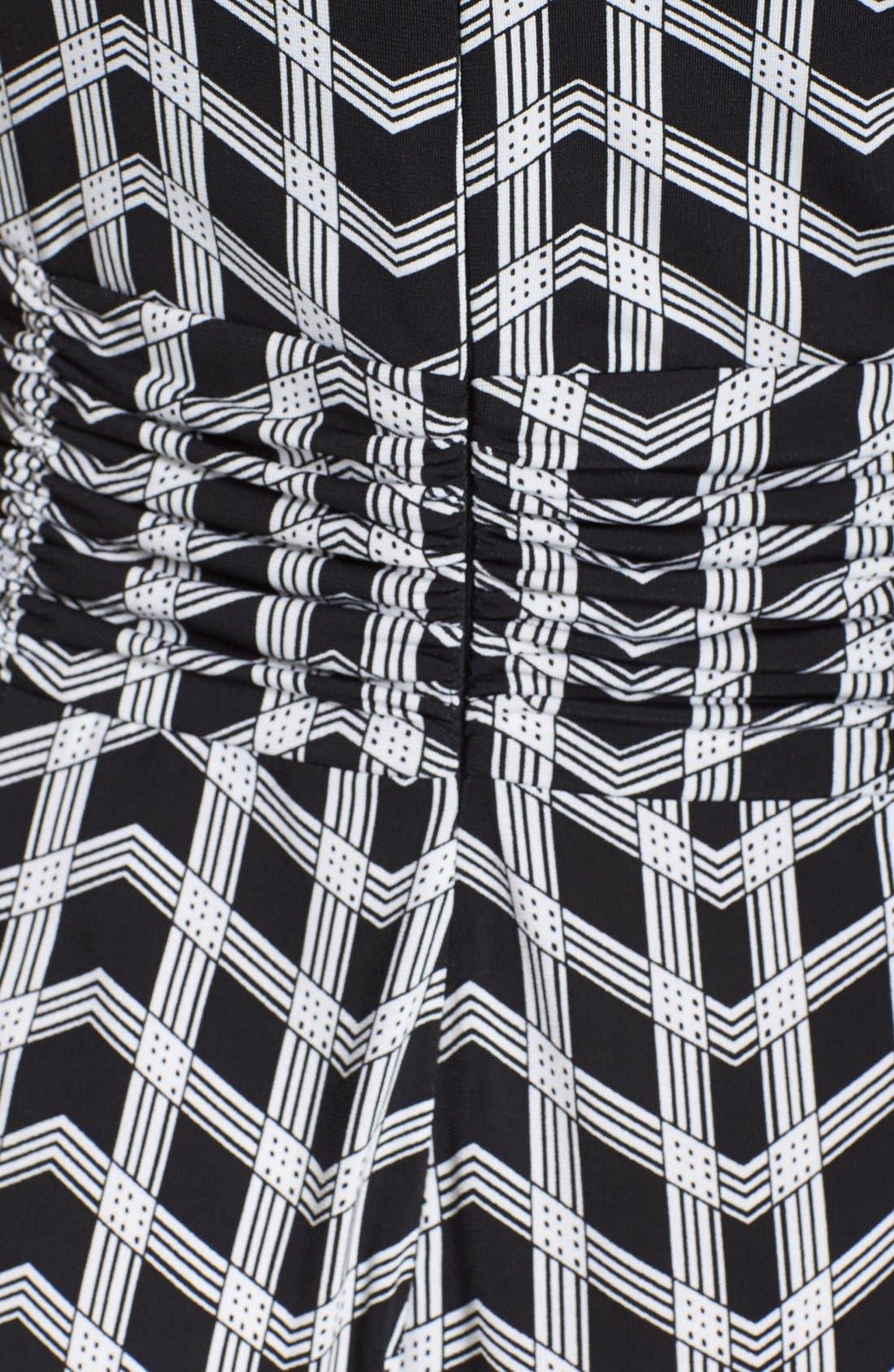 ECI, Geo Print Cowl Neck Jumpsuit, Alternate thumbnail 2, color, 001