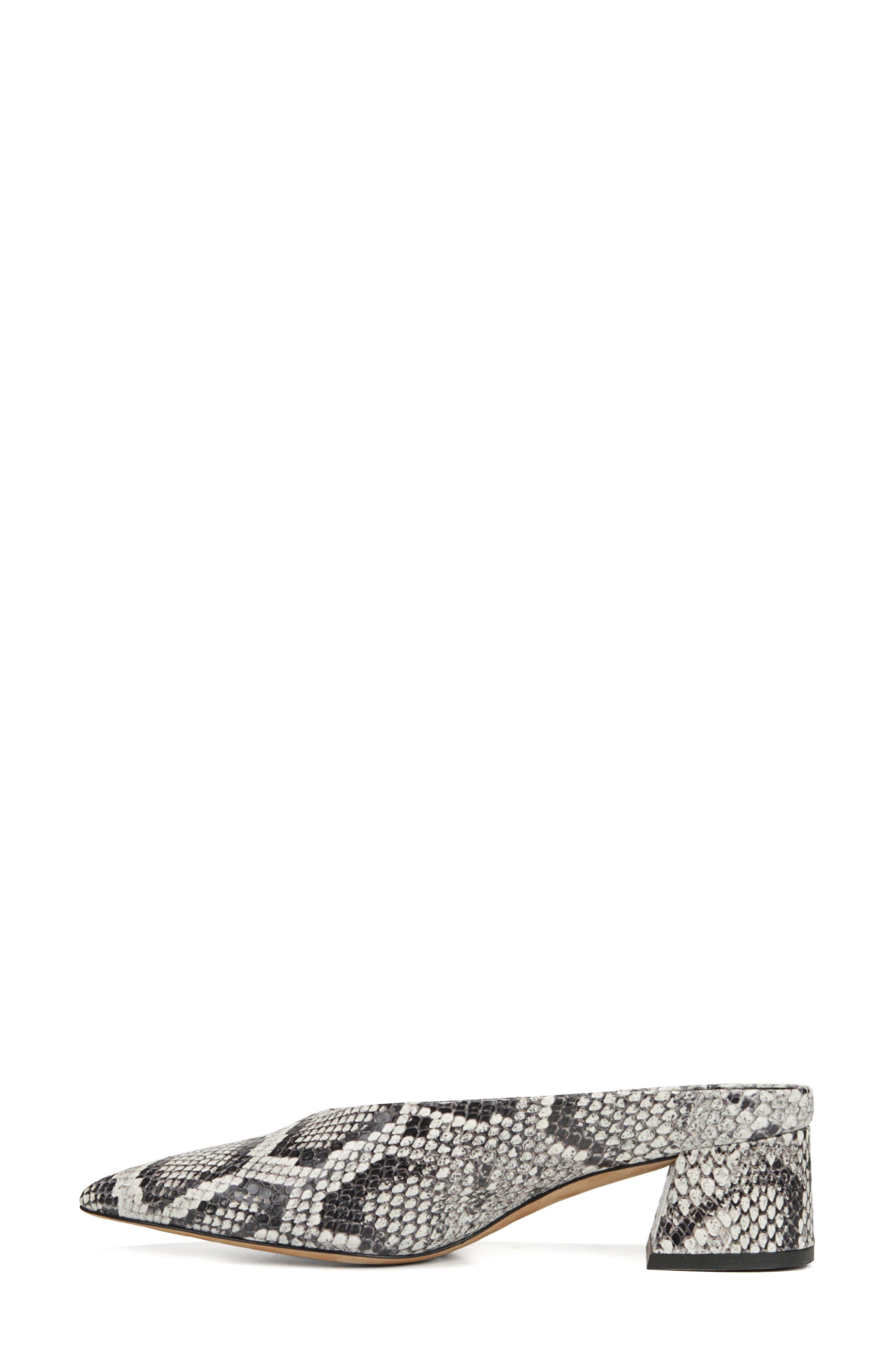 VINCE, Ralston Pointy Toe Mule, Alternate thumbnail 8, color, SAHARA SNAKE PRINT