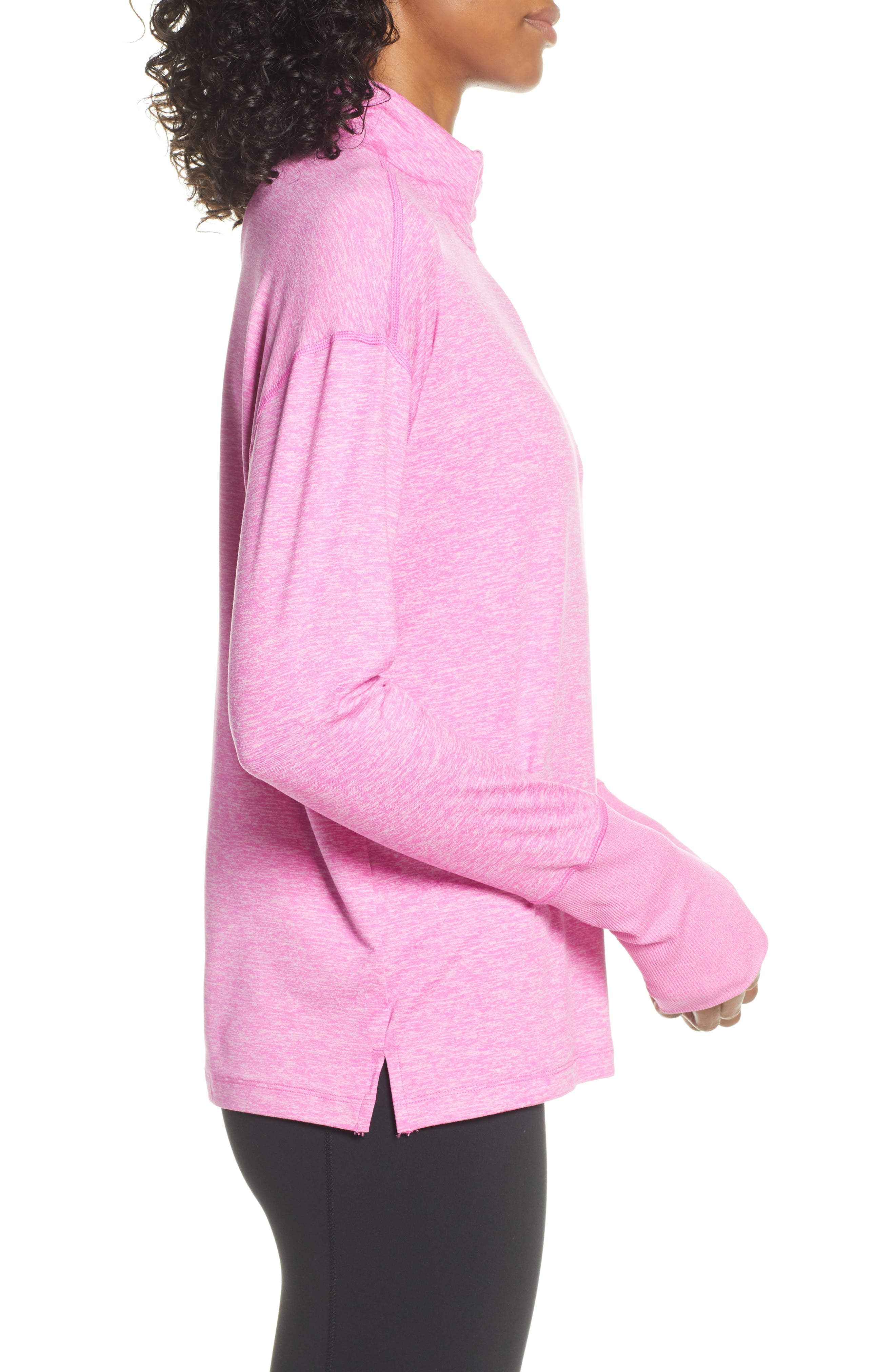 NIKE, Element Long-Sleeve Running Top, Alternate thumbnail 4, color, ACTIVE FUCHSIA/ PINK RISE