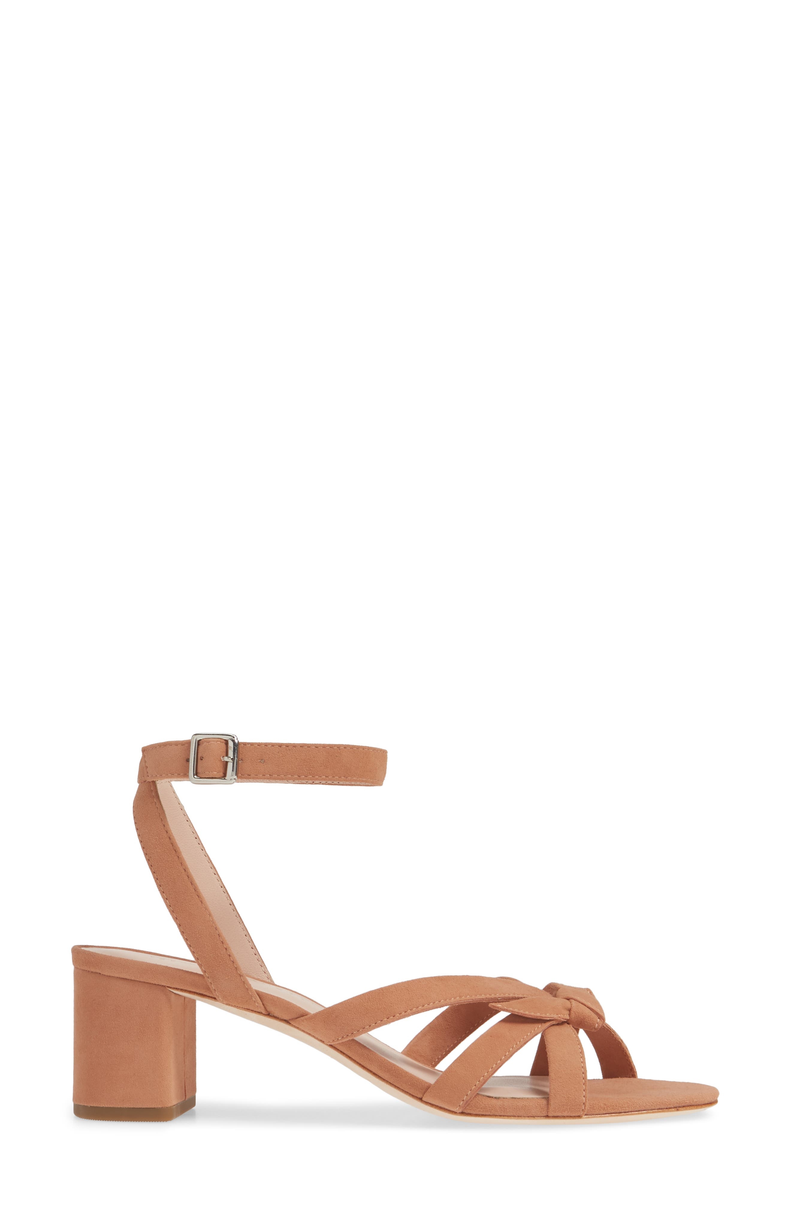 LOEFFLER RANDALL, Anny Knotted Sandal, Alternate thumbnail 3, color, COQUILLE