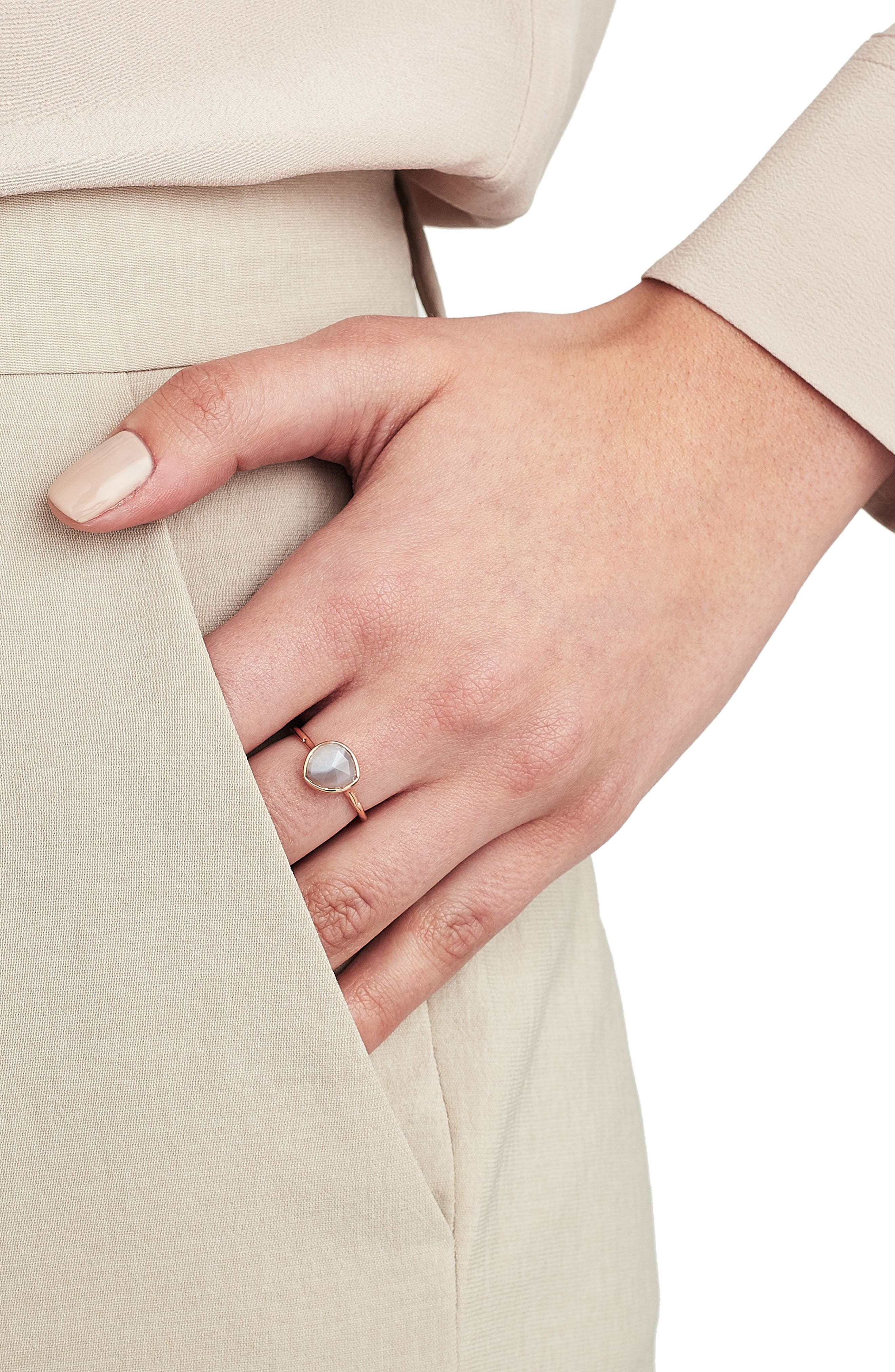 MONICA VINADER, Siren Semiprecious Stone Stacking Ring, Alternate thumbnail 7, color, ROSE GOLD/ KYANITE