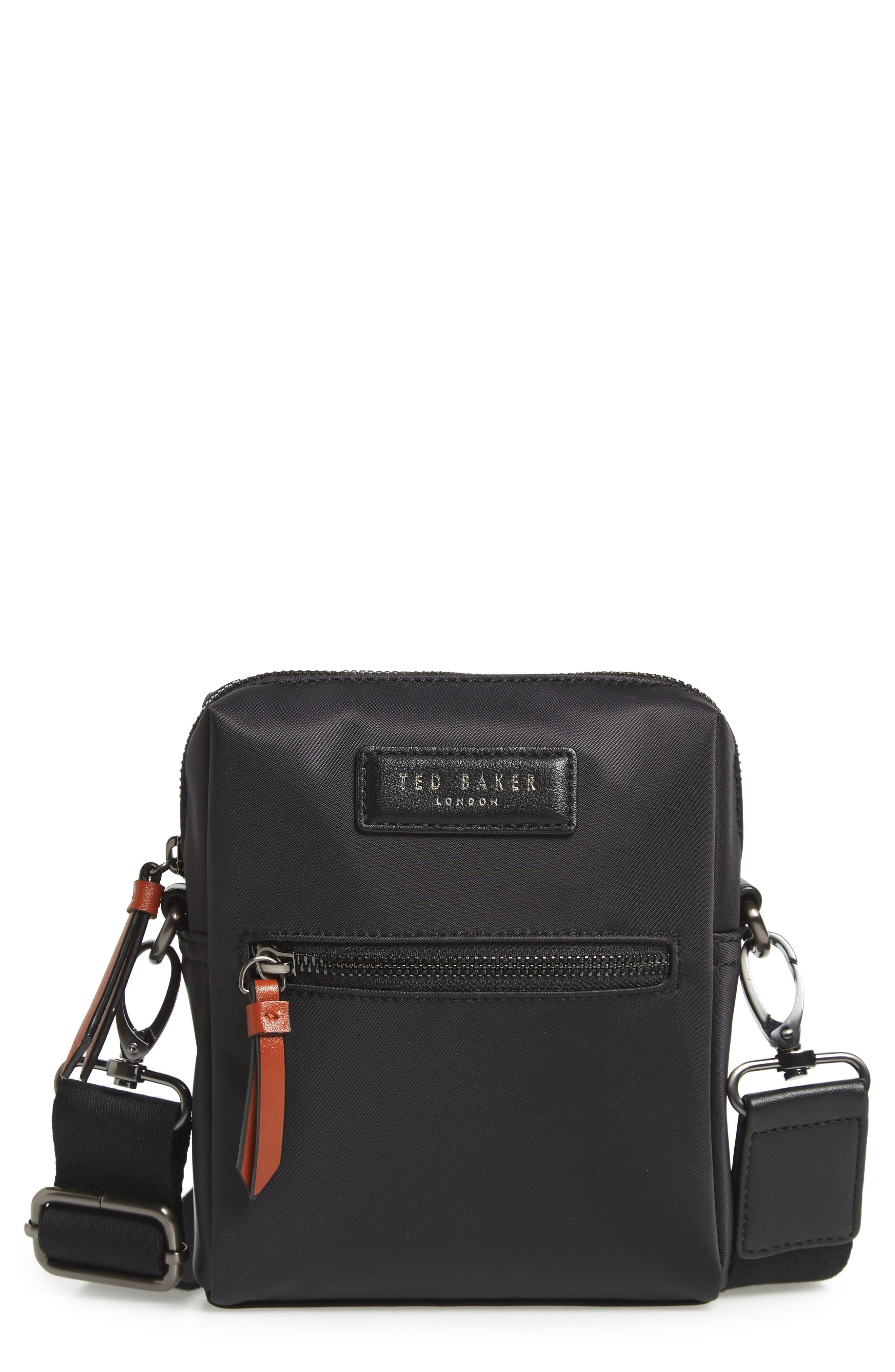 TED BAKER LONDON Mini Flight Bag, Main, color, BLACK