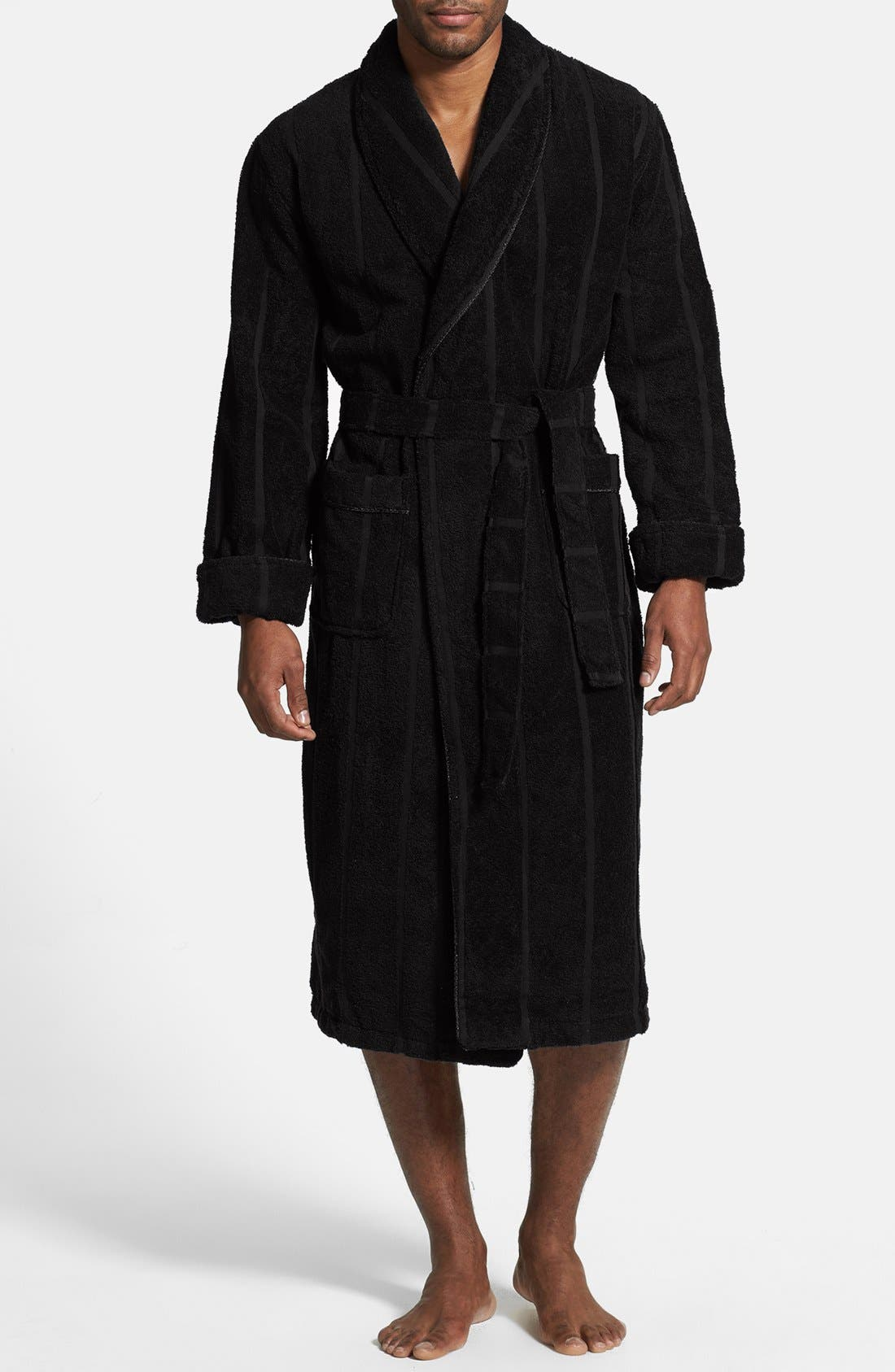 MAJESTIC INTERNATIONAL, Ultra Lux Robe, Main thumbnail 1, color, BLACK