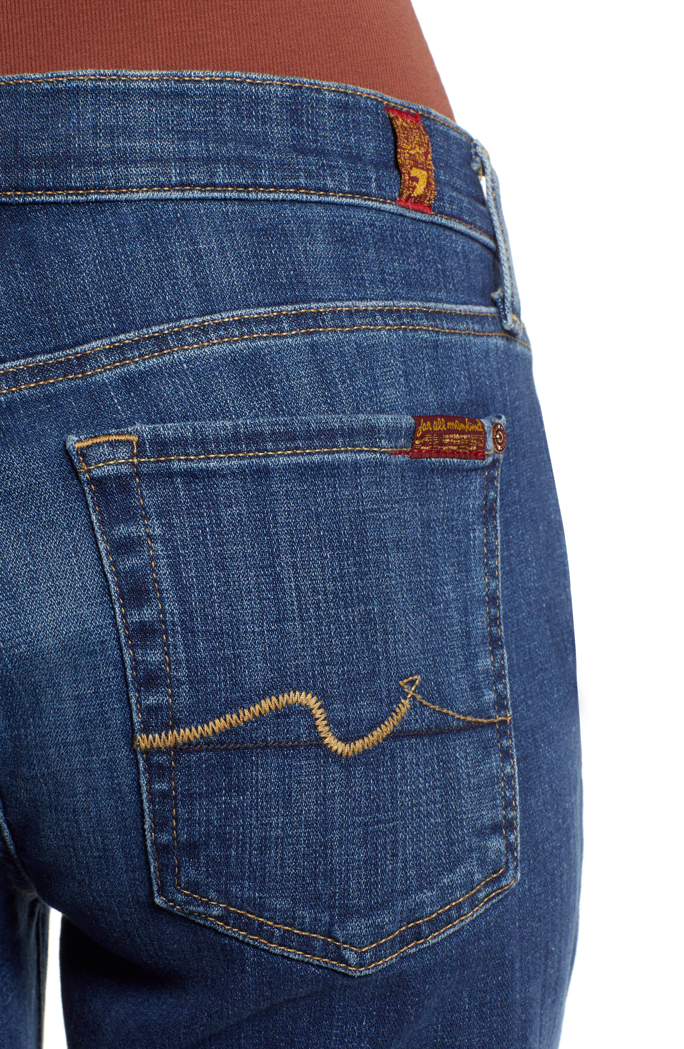 7 FOR ALL MANKIND<SUP>®</SUP>, Josefina Ankle Boyfriend Jeans, Alternate thumbnail 5, color, BROKEN TWILL VANITY CLEAN