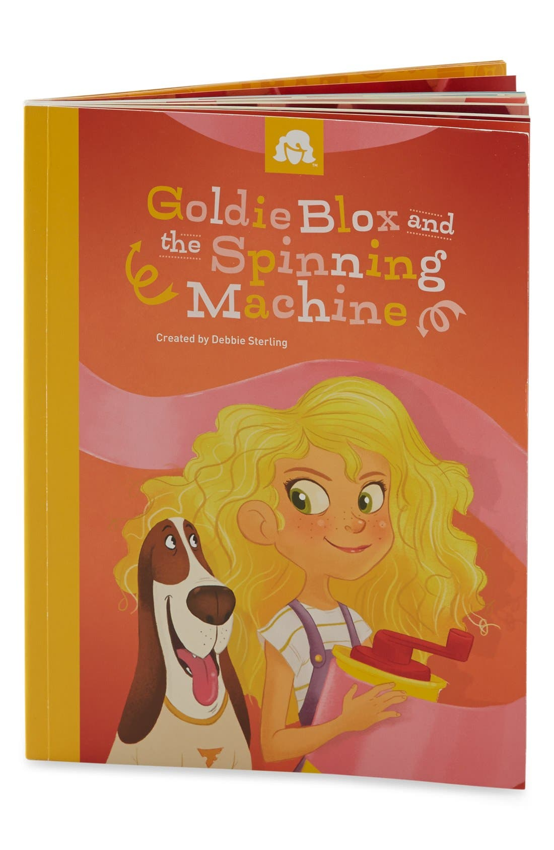 GOLDIEBLOX, 'GoldieBlox & the Spinning Machine' Book & Construction Set, Alternate thumbnail 2, color, 000