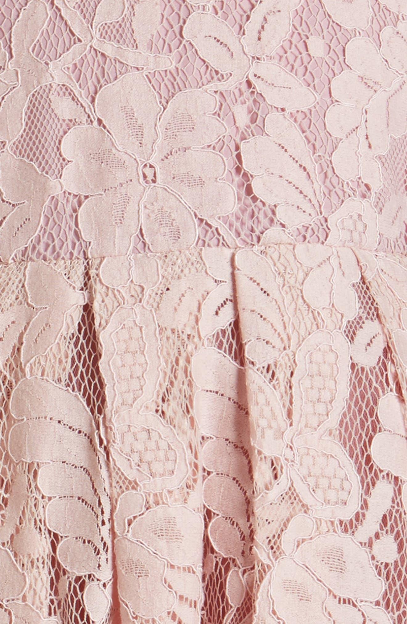 POPATU, Lace Dress, Alternate thumbnail 3, color, DUSTY PINK