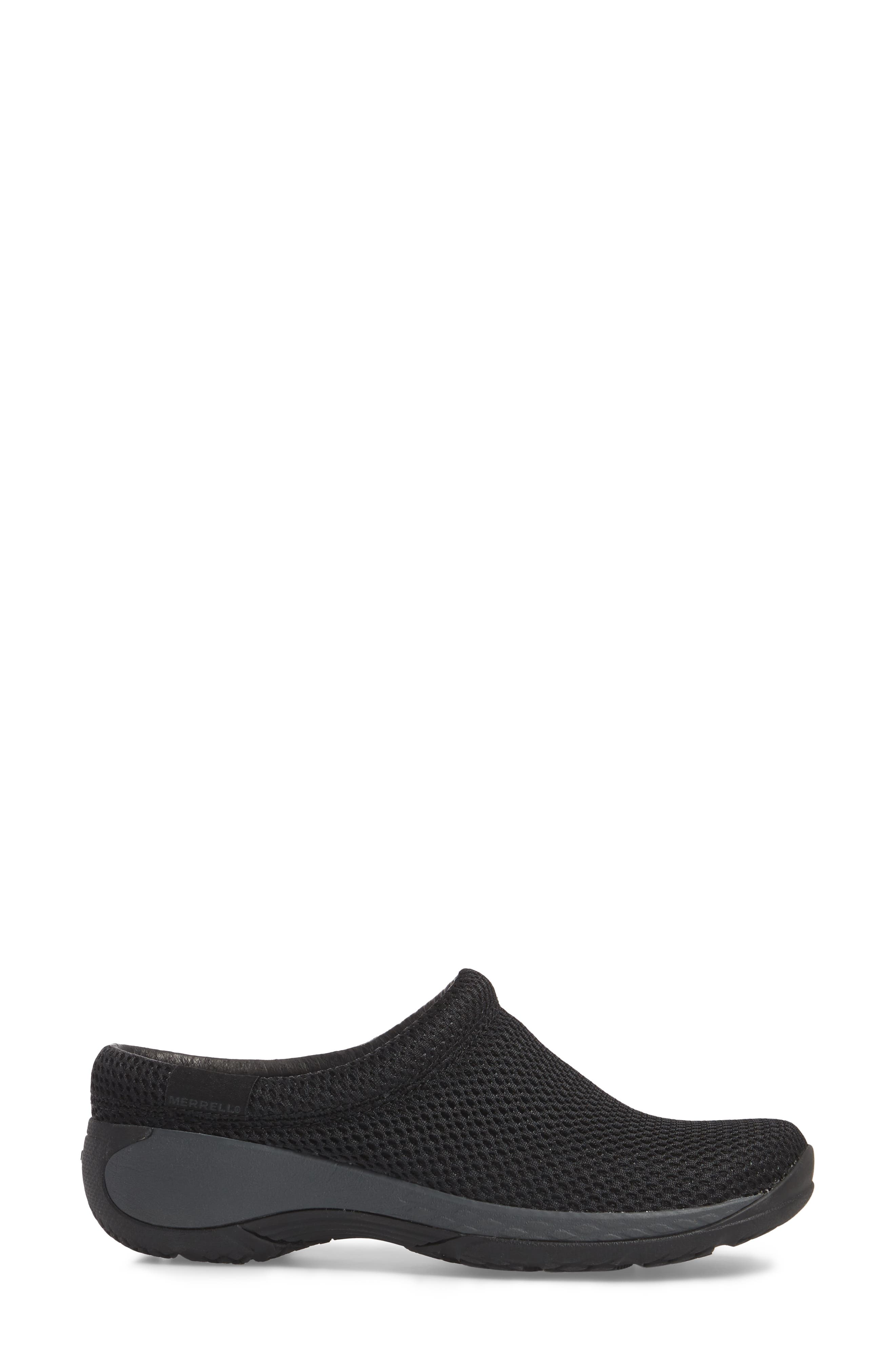MERRELL, Encore Q2 Breeze Clog, Alternate thumbnail 3, color, BLACK