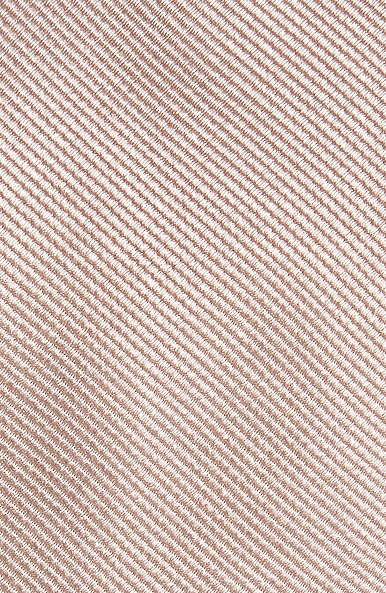 THE TIE BAR, Solid Silk Tie, Alternate thumbnail 2, color, SANDSTONE