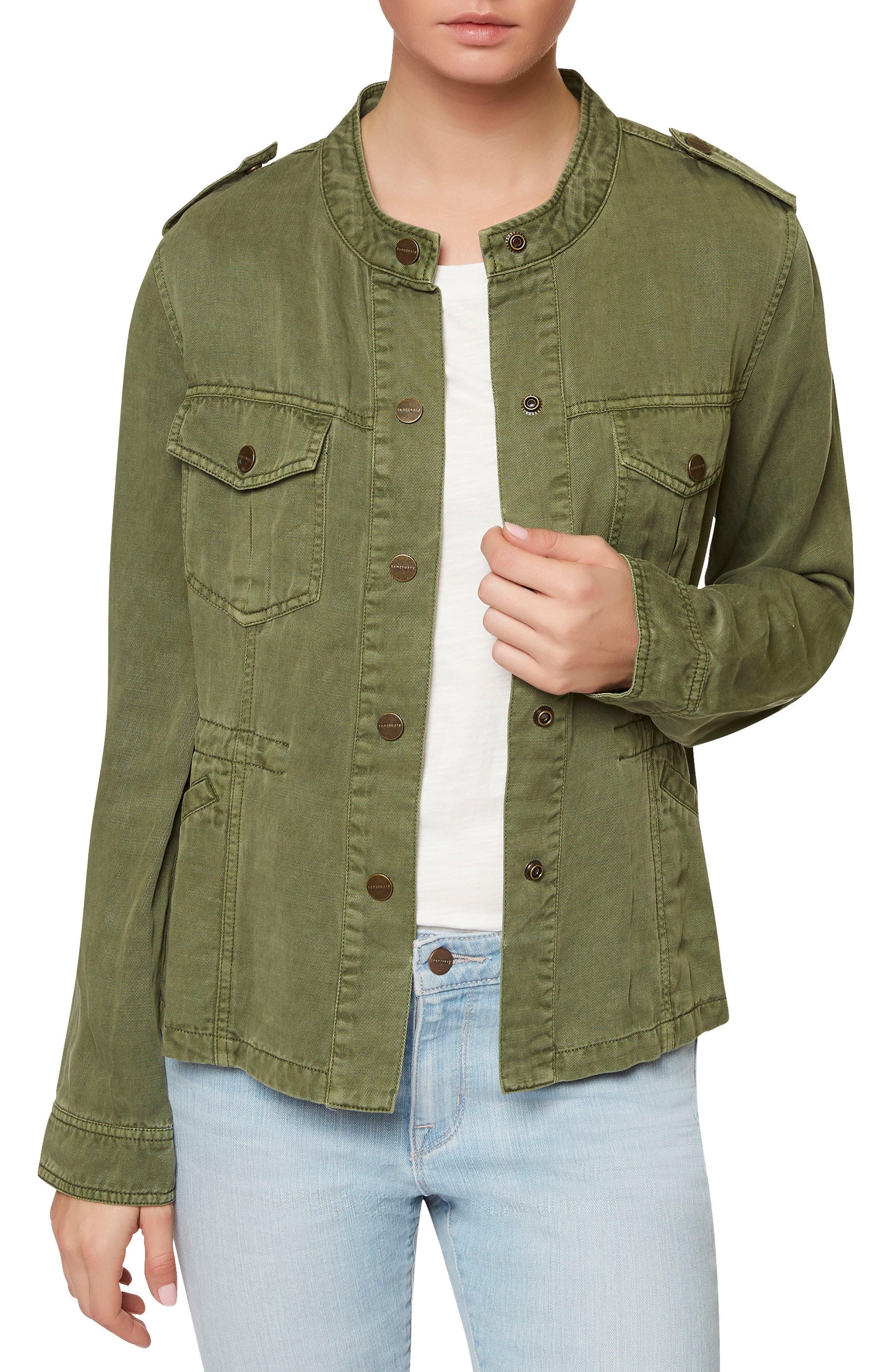 SANCTUARY, Marni Twill Utility Jacket, Main thumbnail 1, color, 300