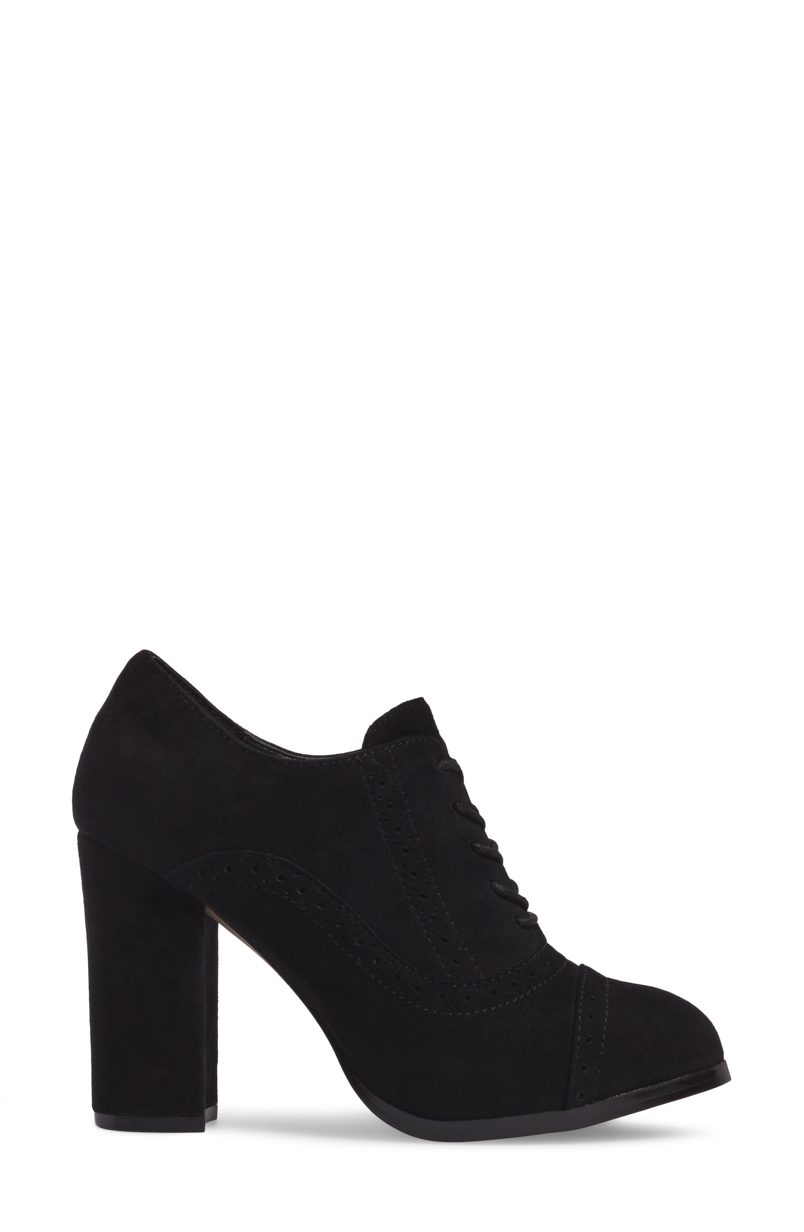 ISOLÁ, Holli Oxford Pump, Alternate thumbnail 3, color, BLACK SUEDE