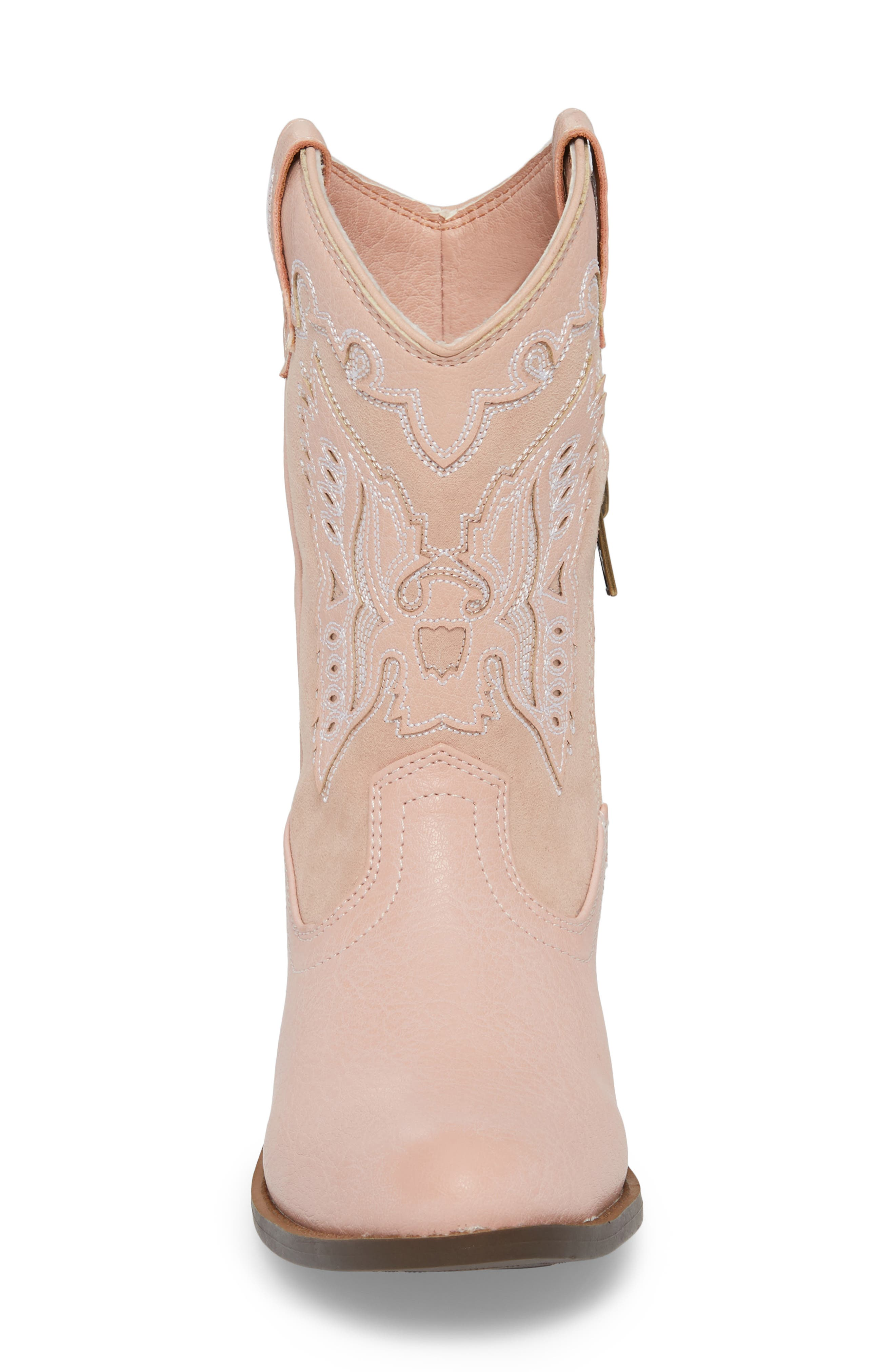 FRYE, Carson Firebird Cowgirl Boot, Alternate thumbnail 4, color, PINK