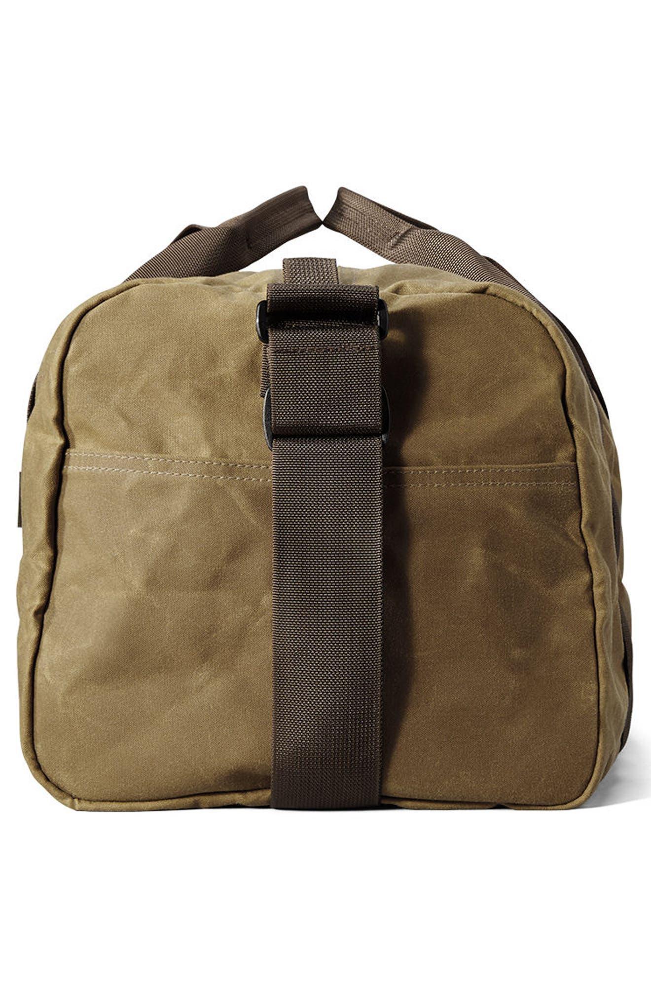 FILSON, Small Field Duffle Bag, Alternate thumbnail 3, color, DARK TAN/ BROWN