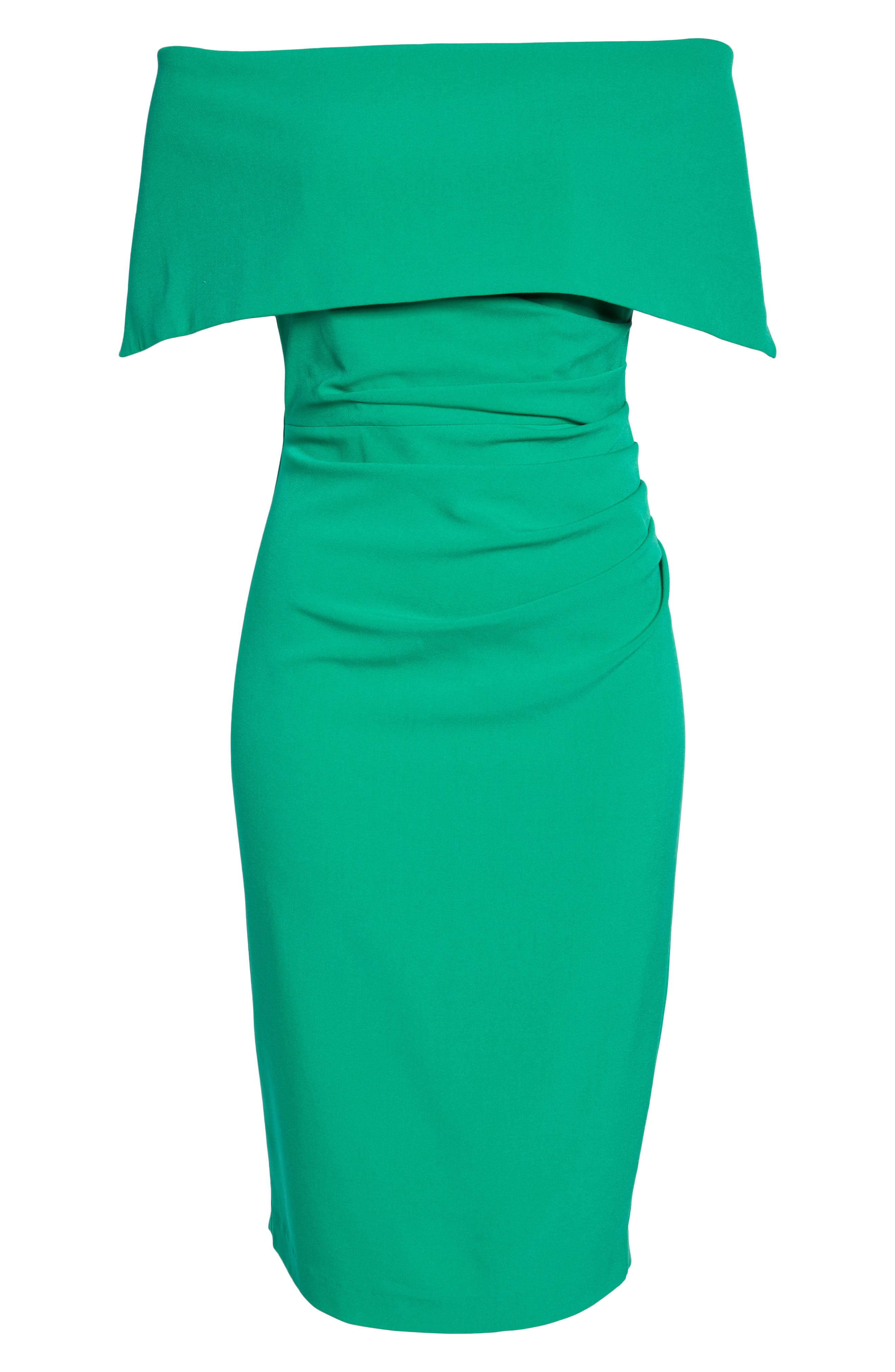 VINCE CAMUTO, Popover Midi Dress, Alternate thumbnail 7, color, GREEN