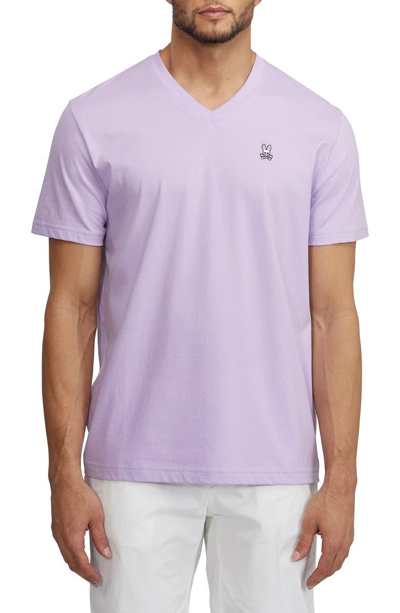 Psycho Bunny T-shirts CLASSIC V-NECK SLIM FIT T-SHIRT