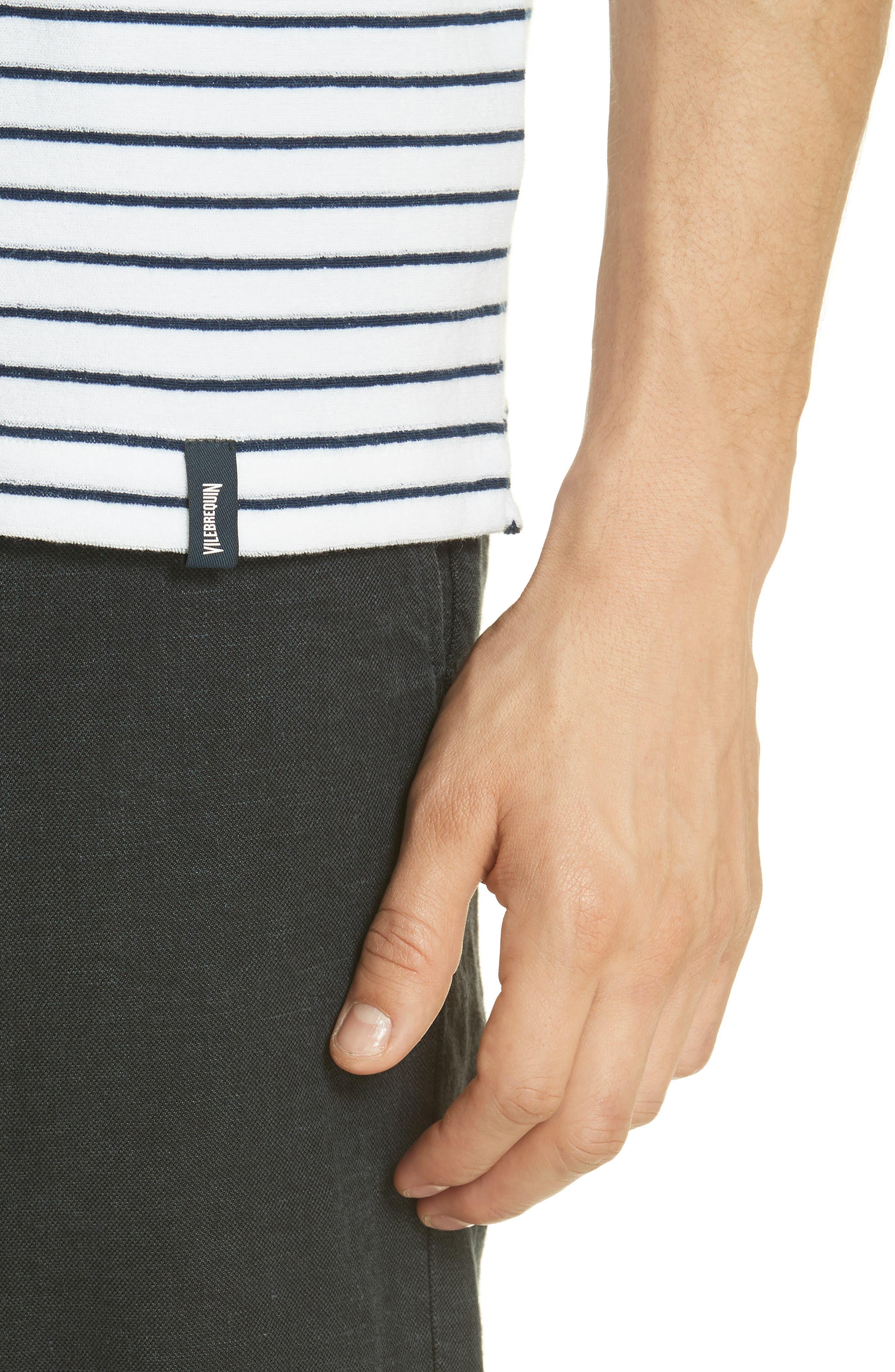 VILEBREQUIN, Stripe Terry T-Shirt, Alternate thumbnail 4, color, 402