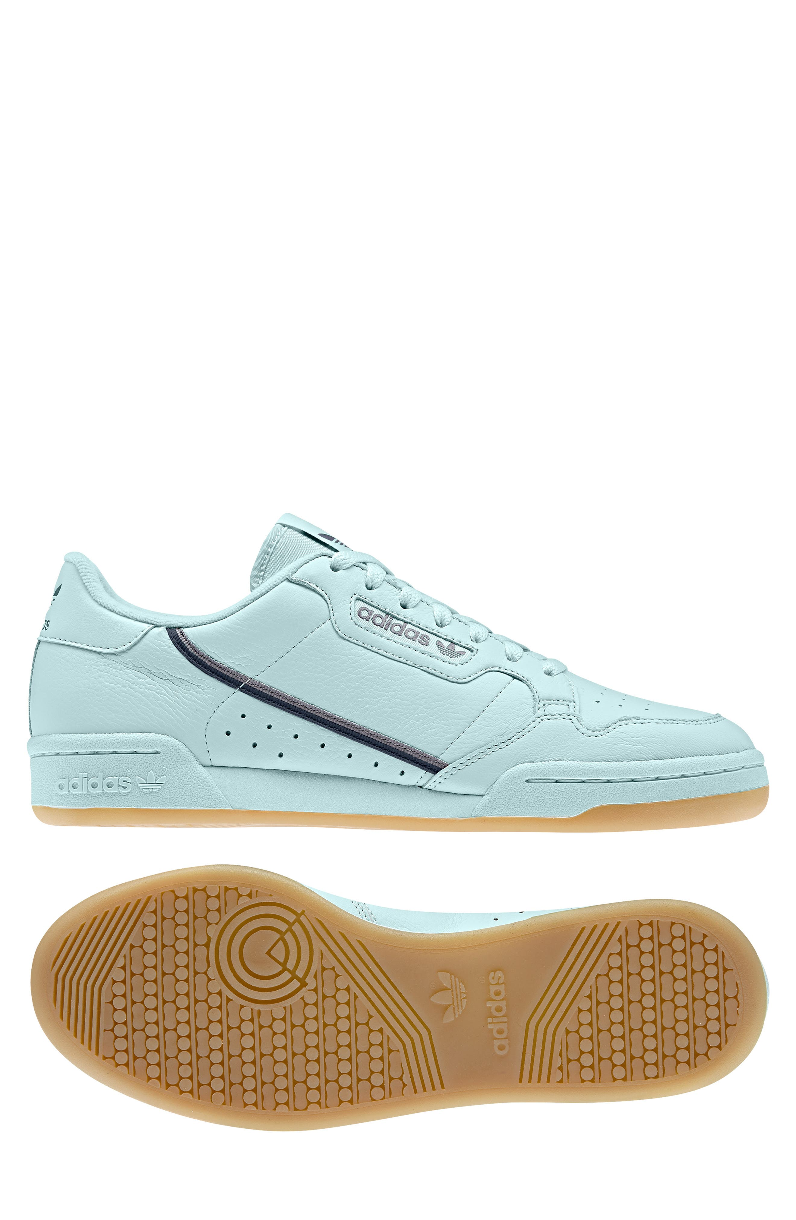ADIDAS, Continental 80 Sneaker, Alternate thumbnail 11, color, ICE MINT/ NAVY/ GREY