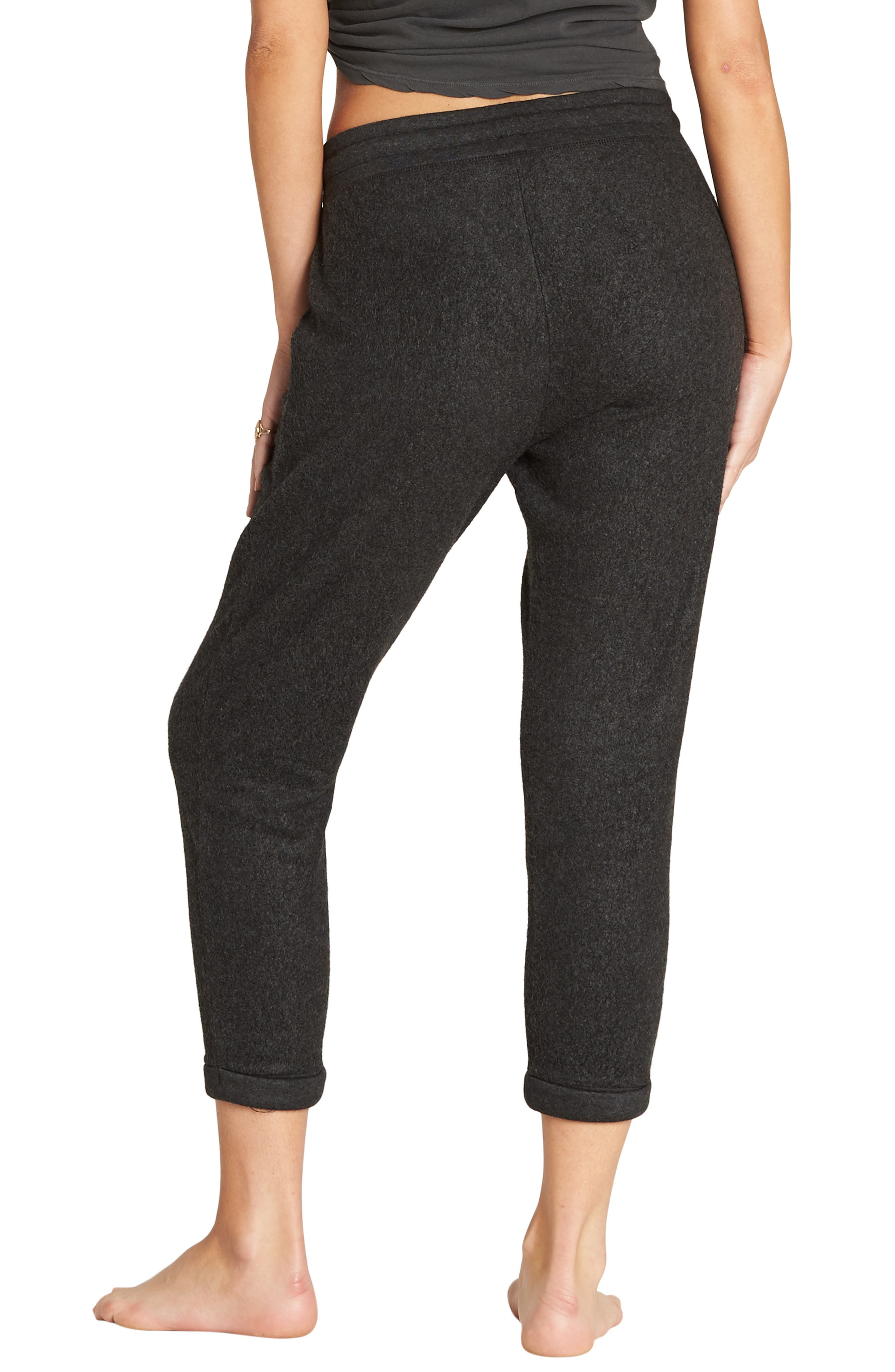 BILLABONG, So Cozy Crop Fleece Pants, Alternate thumbnail 2, color, 020
