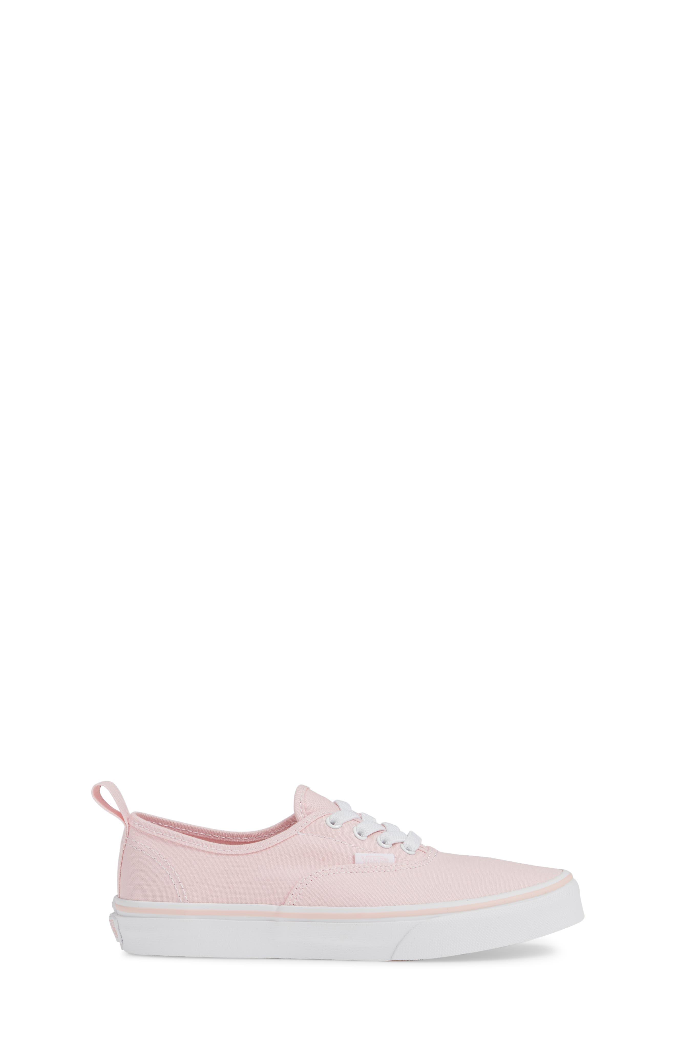 VANS, Authentic Elastic Lace Sneaker, Alternate thumbnail 3, color, CHALK PINK/ TRUE WHITE