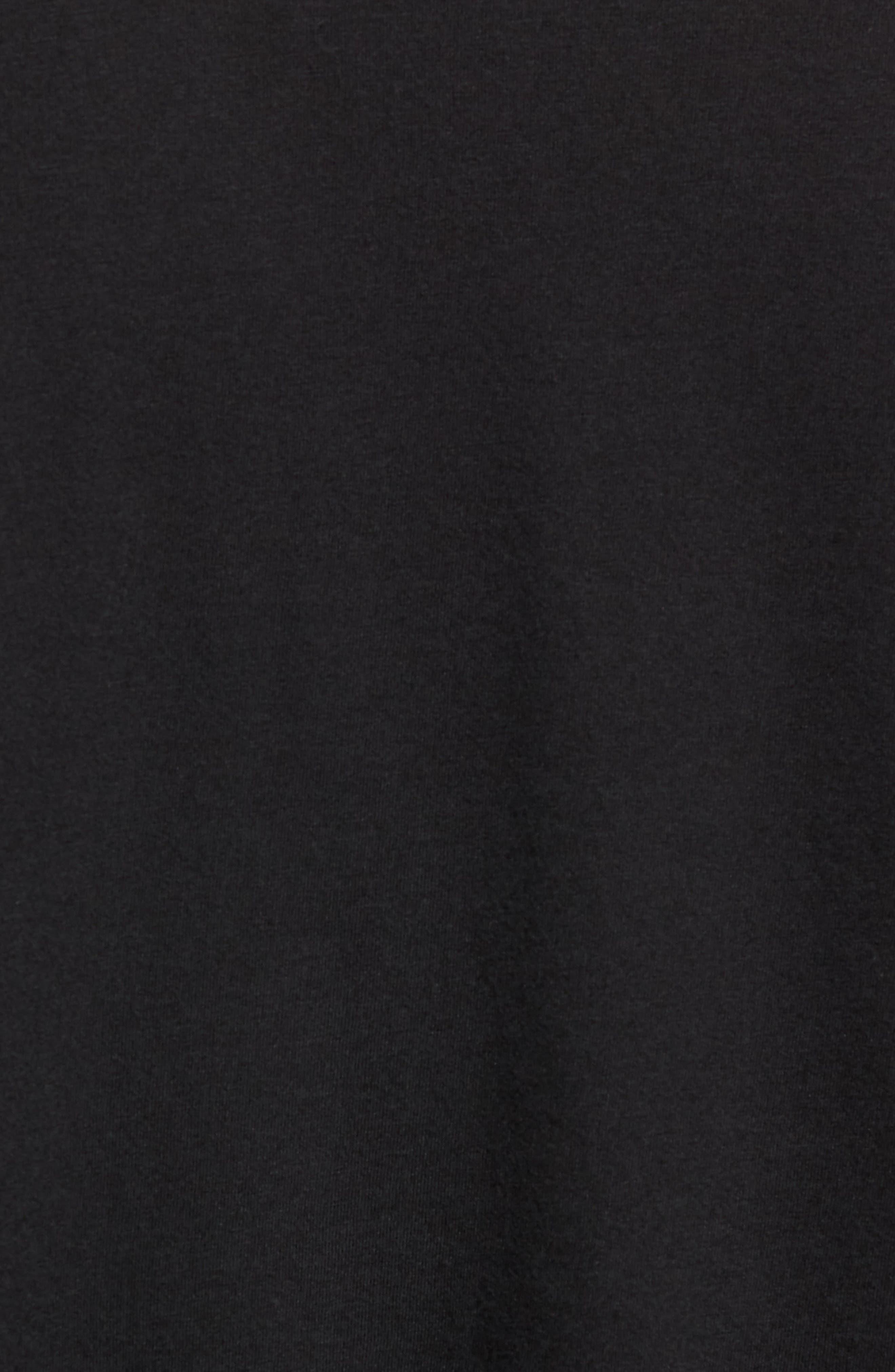 ALO, Triumph Long Raglan Sleeve V-Neck T-Shirt, Alternate thumbnail 5, color, SOLID BLACK TRIBLEND