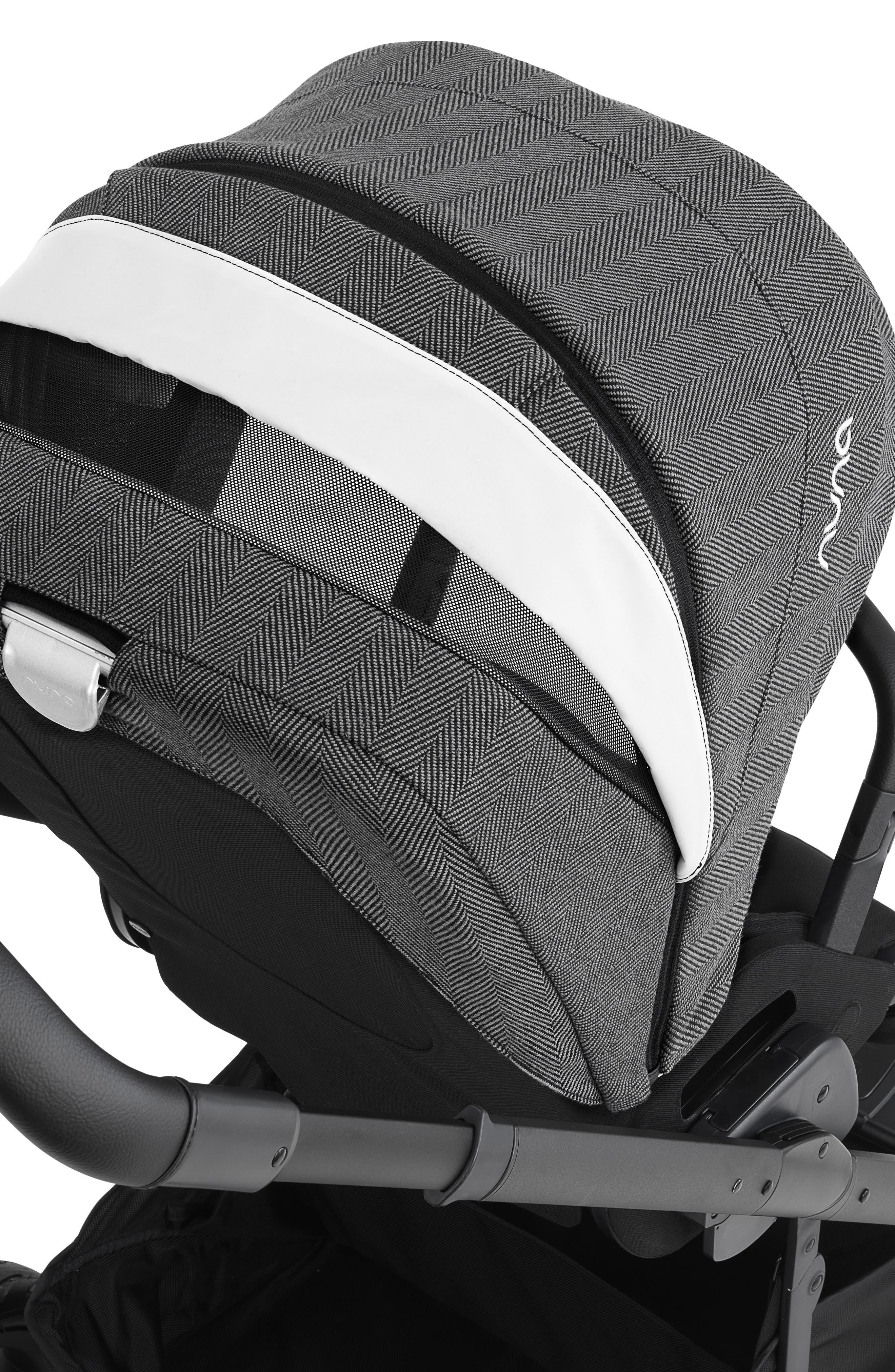 NUNA, 2019 MIXX<sup>™</sup> Stroller & PIPA<sup>™</sup> Lite LX Infant Car Seat Set Travel System, Alternate thumbnail 7, color, VERONA CAVIAR