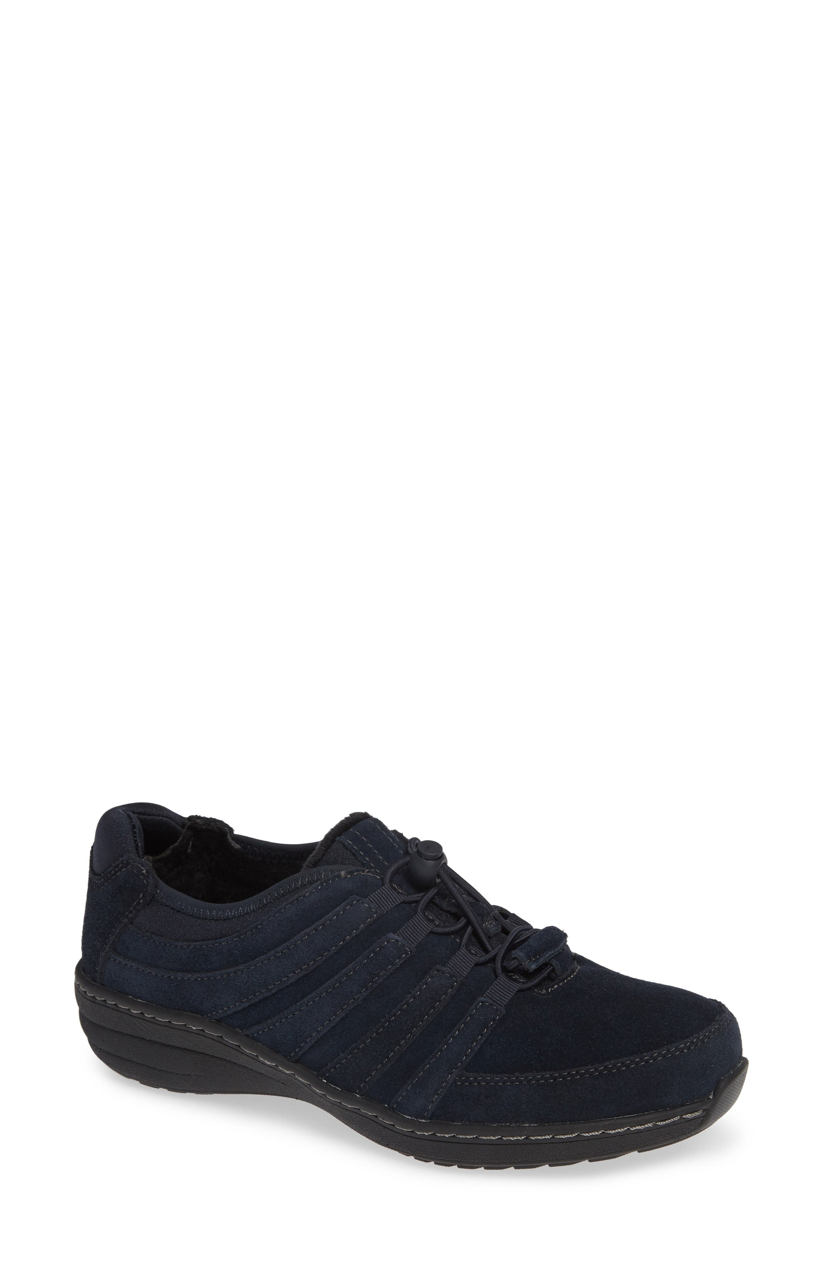 AETREX, Laney Sneaker, Main thumbnail 1, color, NAVY FABRIC