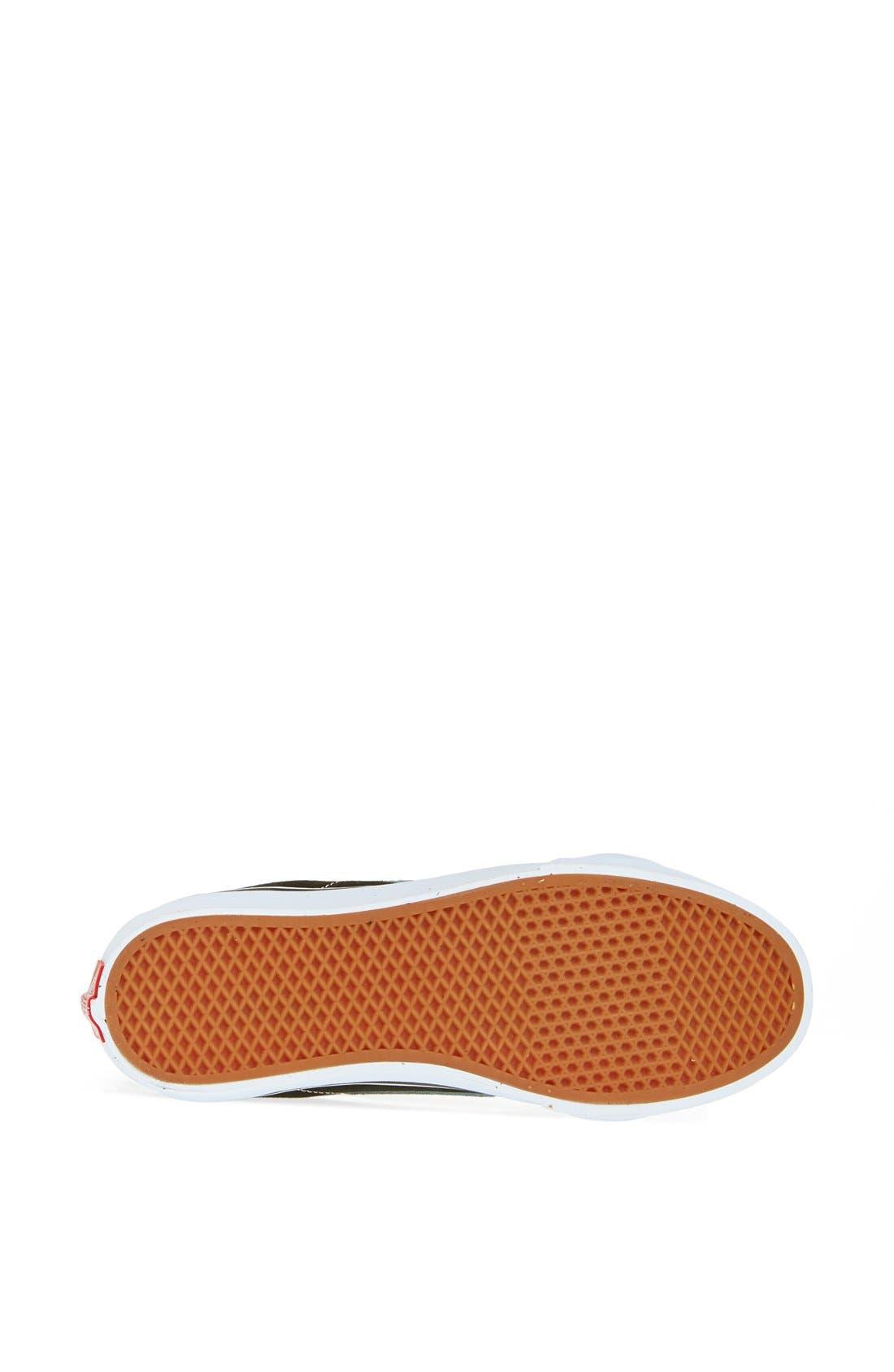 VANS, Sk8-Hi Slim High Top Sneaker, Alternate thumbnail 6, color, BLACK TRUE WHITE