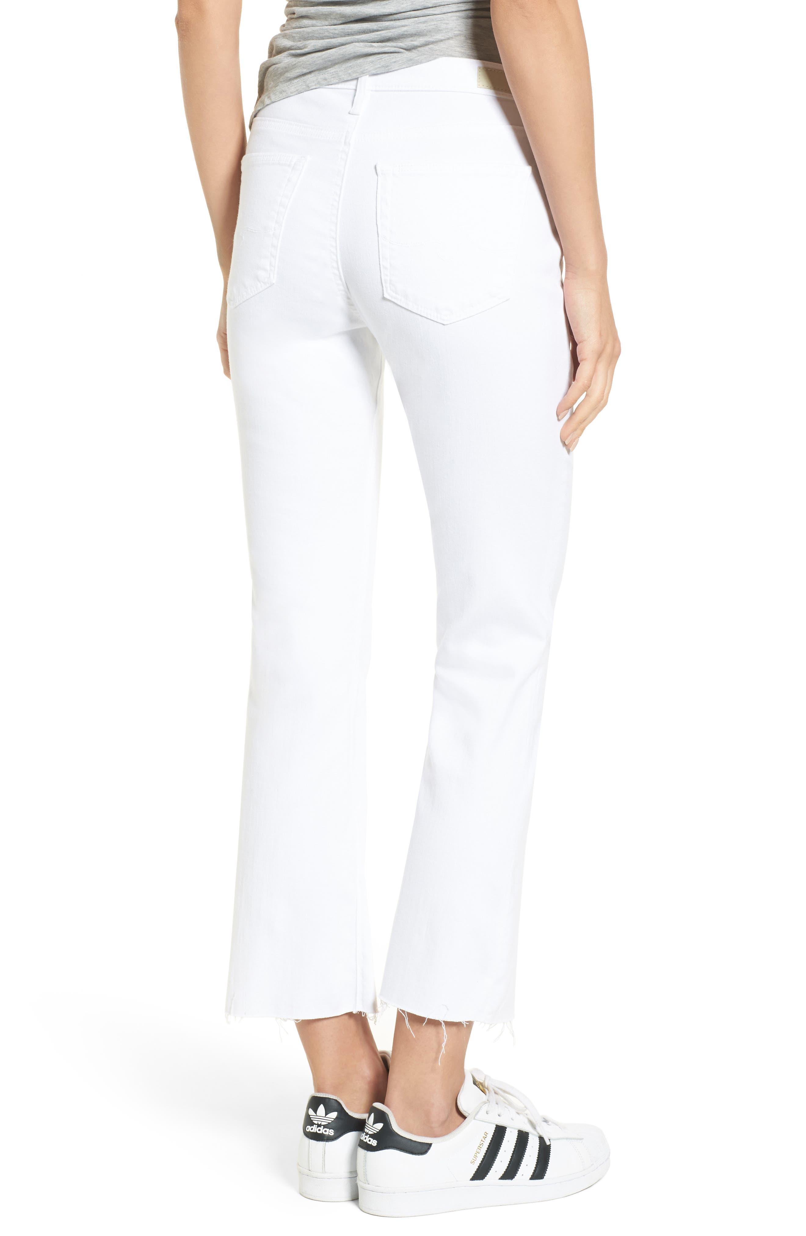 AG, Jodi High Waist Crop Jeans, Alternate thumbnail 2, color, WHITE