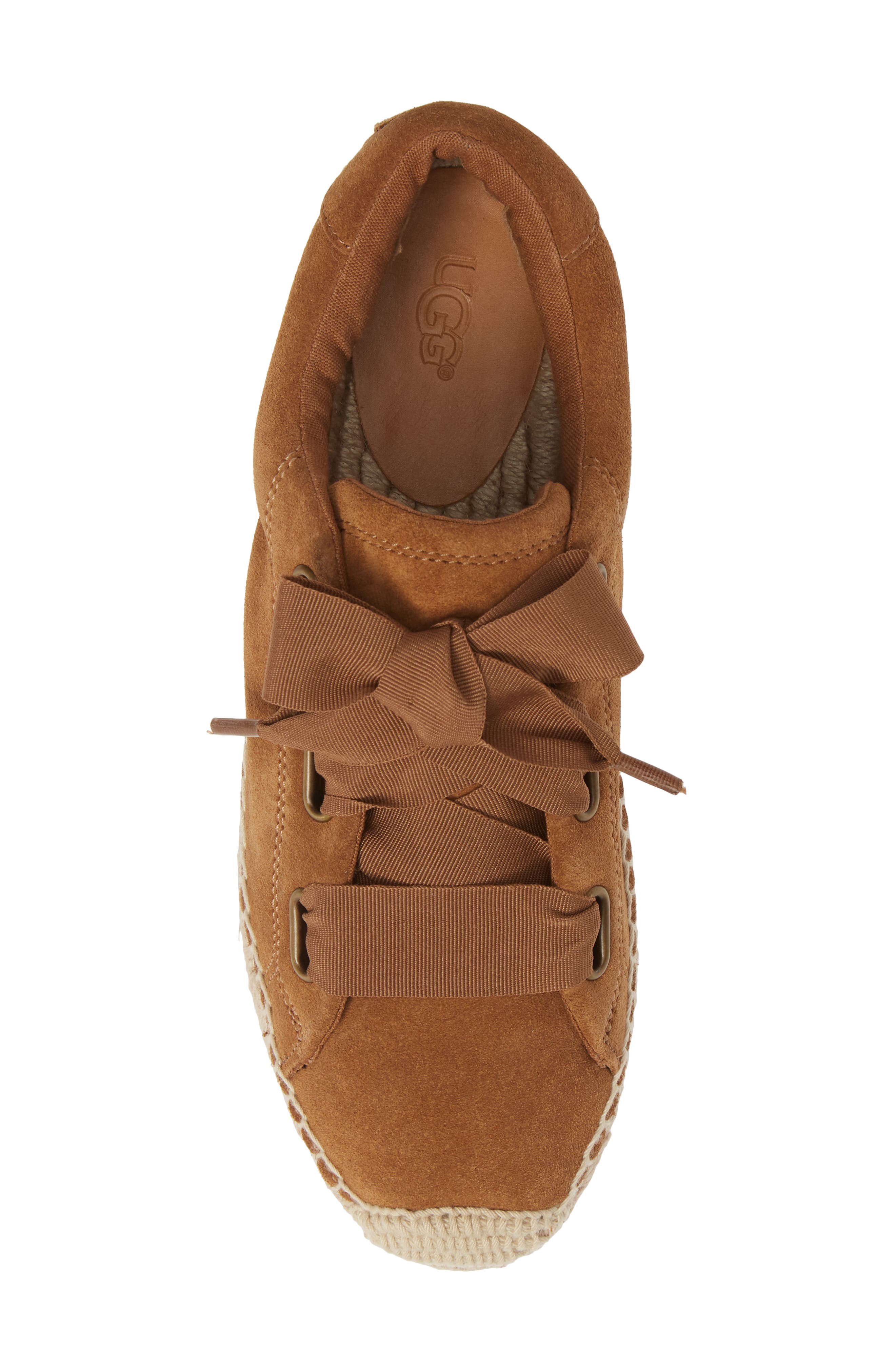 UGG<SUP>®</SUP>, Brianna Sneaker, Alternate thumbnail 5, color, CHESTNUT SUEDE